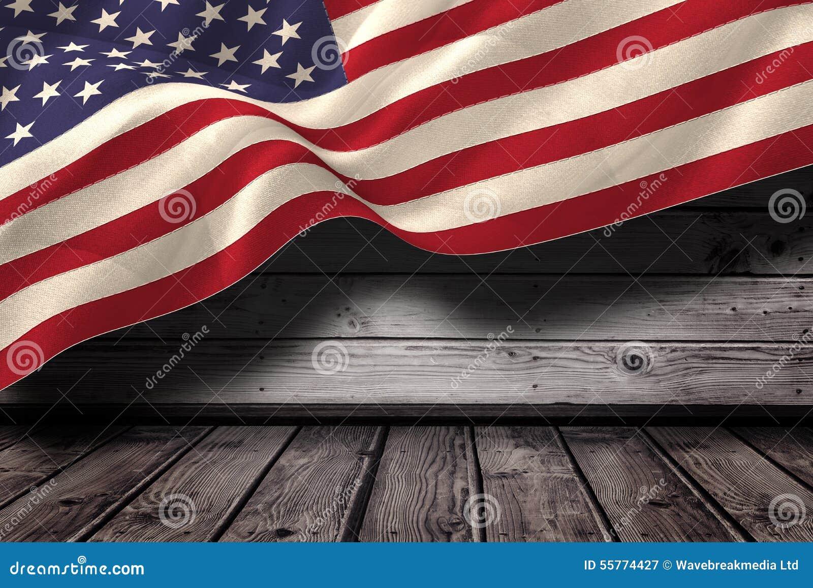 Złożony wizerunek cyfrowo wytwarzająca zlana stan flaga państowowa