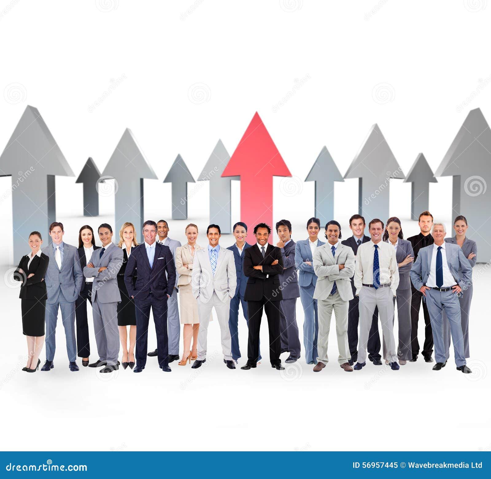 Złożony wizerunek ludzie biznesu trwanie up