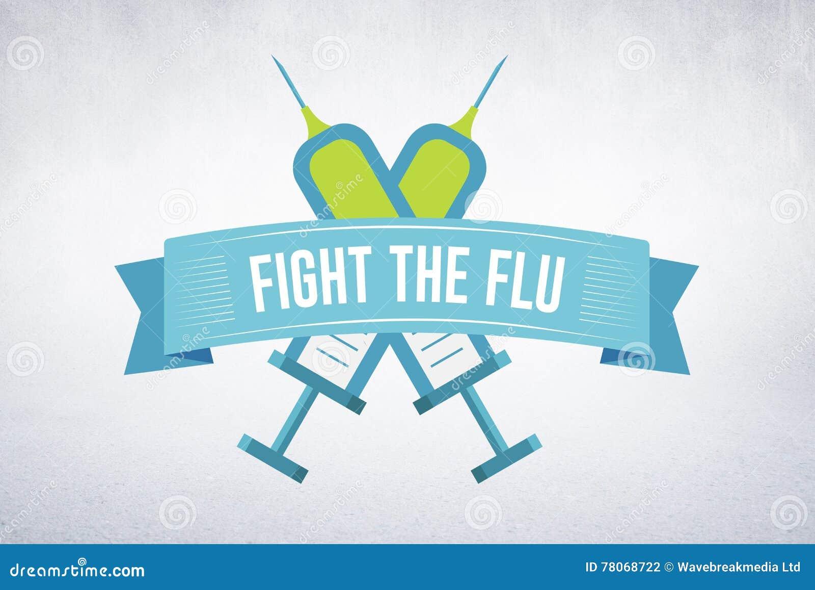 Złożony wizerunek walka grypa