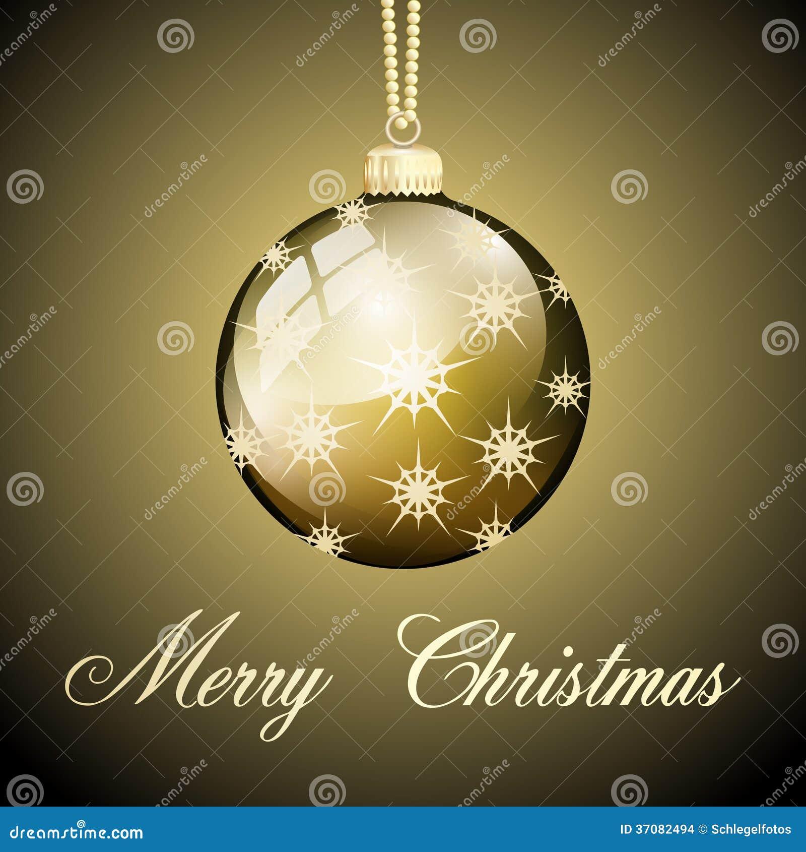 Download Złociści Wesoło Boże Narodzenia Balowi Ilustracji - Ilustracja złożonej z tła, świętowanie: 37082494