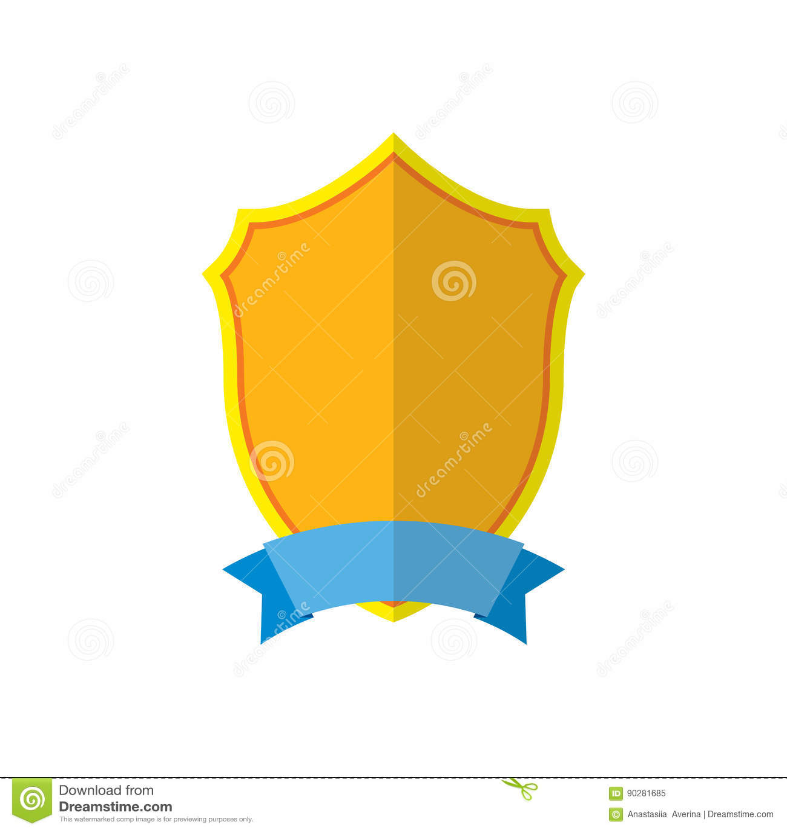 Złocista osłona emblemata ikona Złota szyldowa sylwetka, odizolowywająca na białym tle Symbol trofeum, heraldyczna nagroda, króle