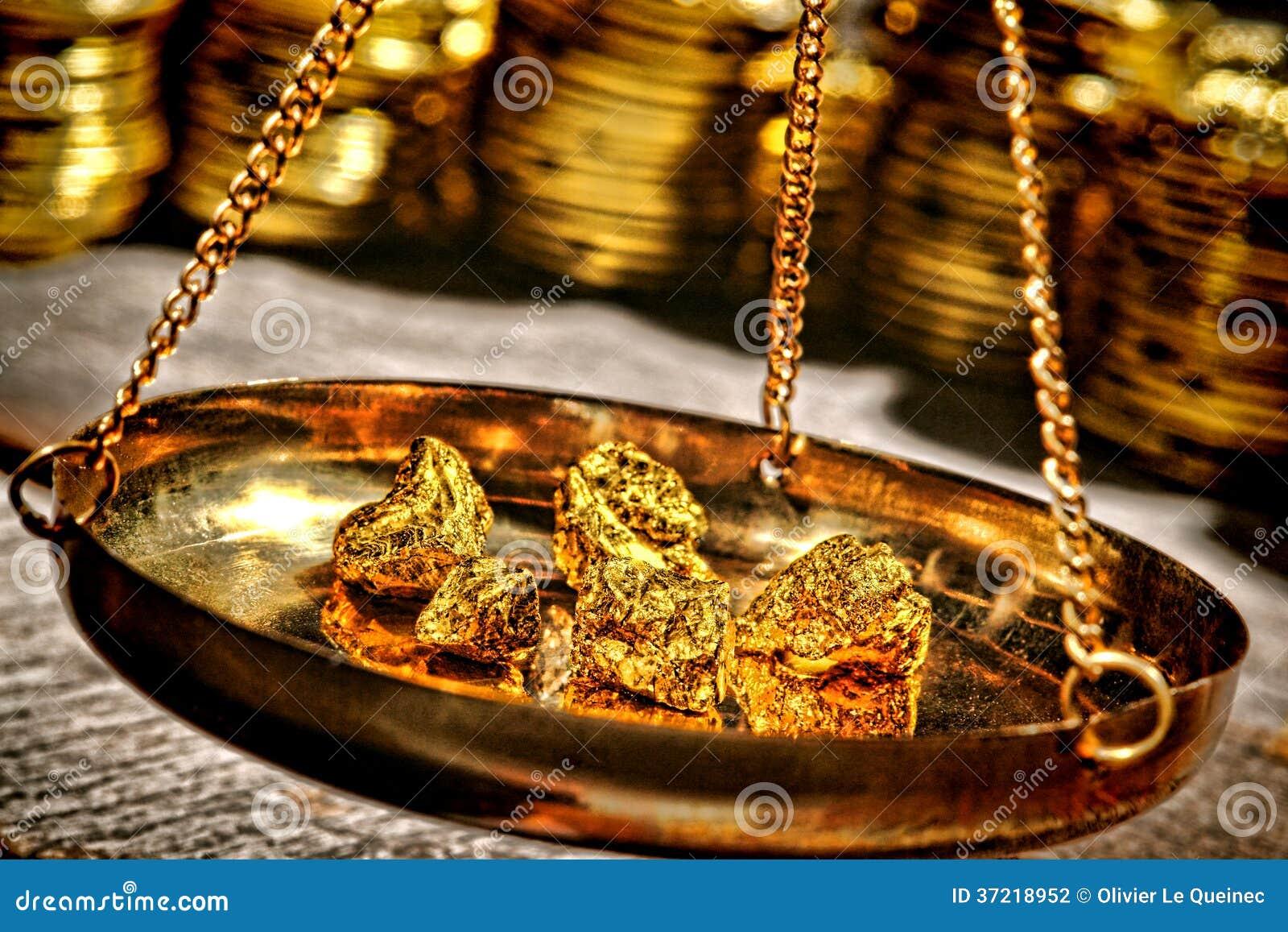 Złociste bryłki w Szalkowej niecce przy Cennego metalu handlowem