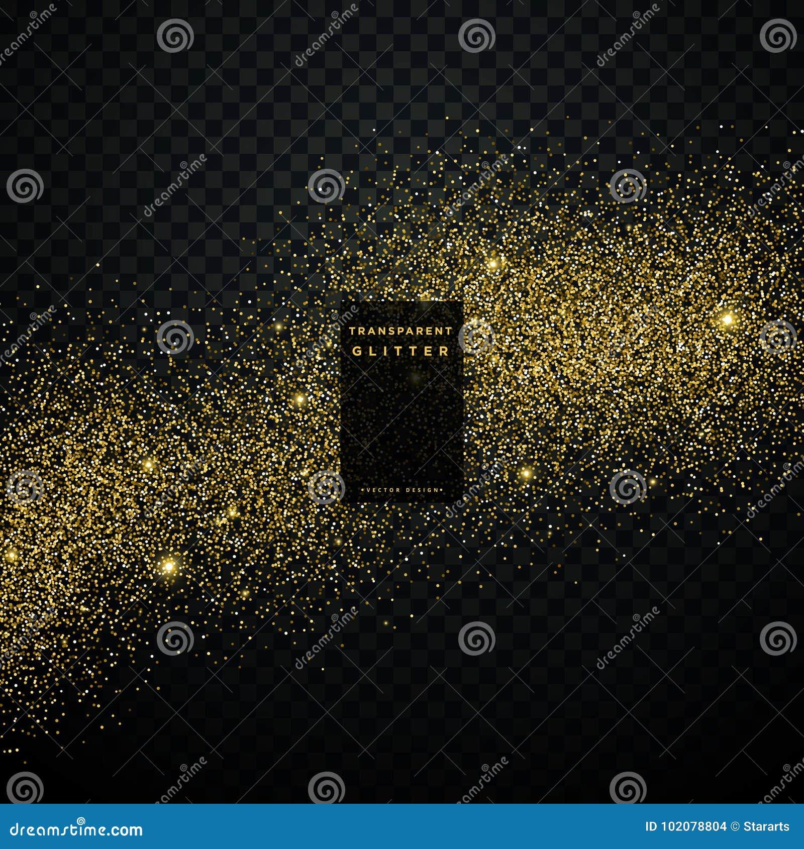 Złocistego błyskotliwości tła gwiazdowy pył błyszczący błyska