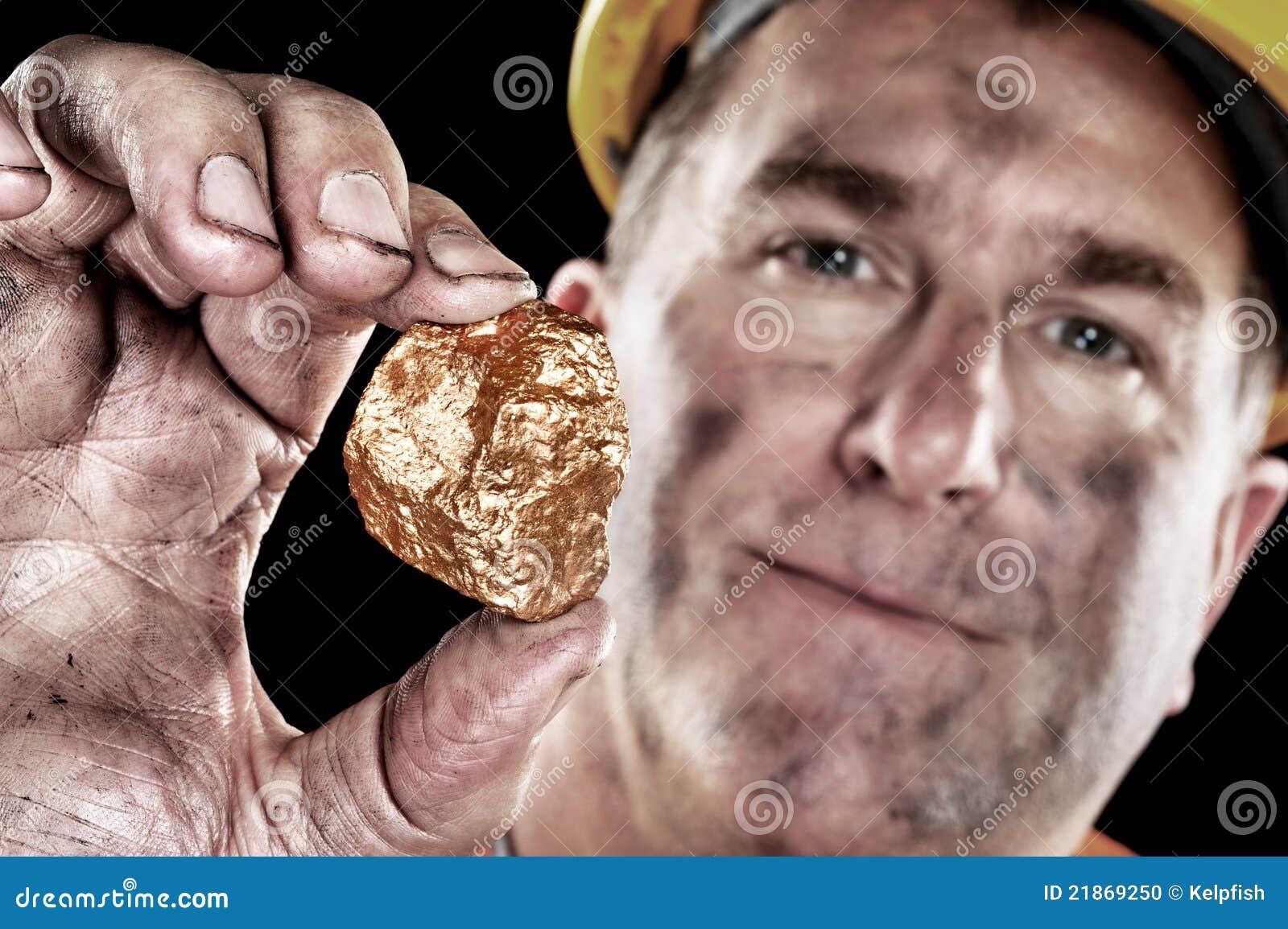 Złocistego górnika bryłka