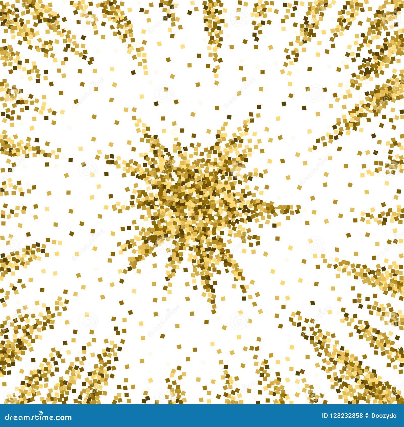 Złocistej błyskotliwości luksusowi iskrzaści confetti rozrzucony