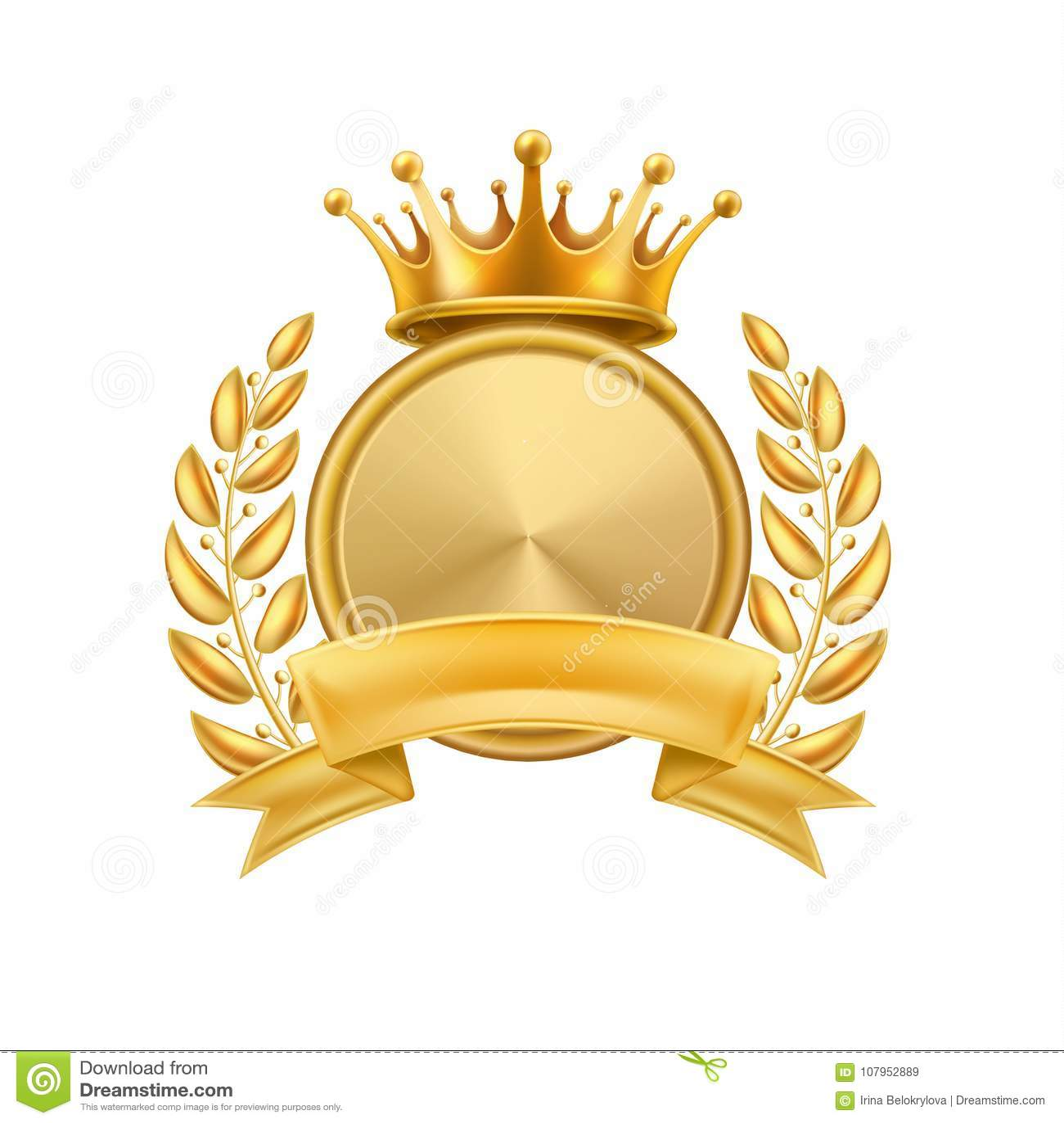Złocistej korony wianku zwycięzcy laurowa rama odizolowywająca