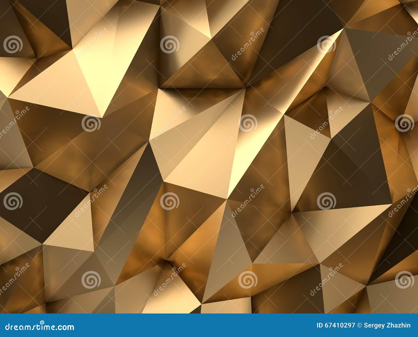 Złocisty abstrakta 3D-Render tło