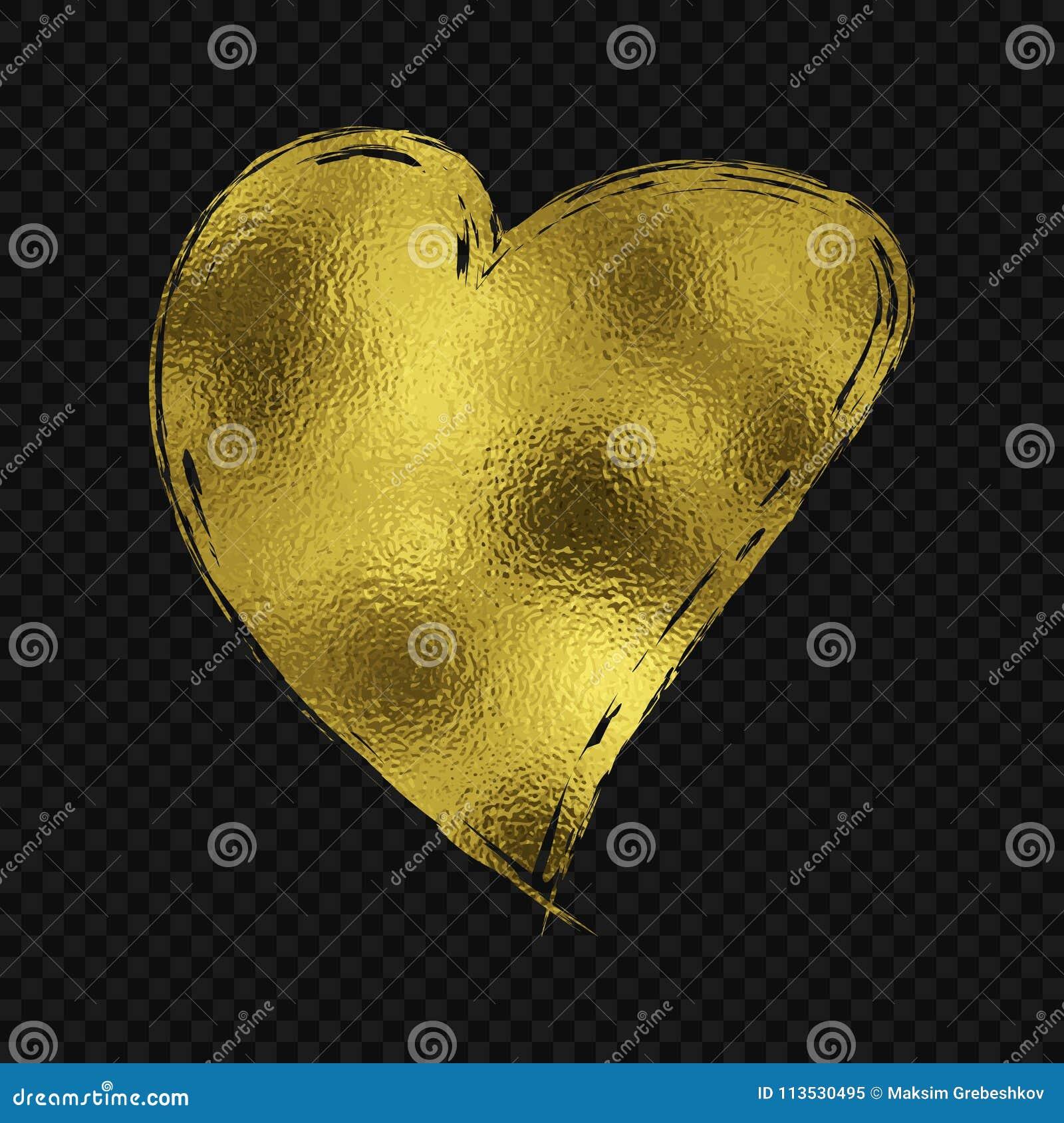 Złocisty błyskotliwości serce