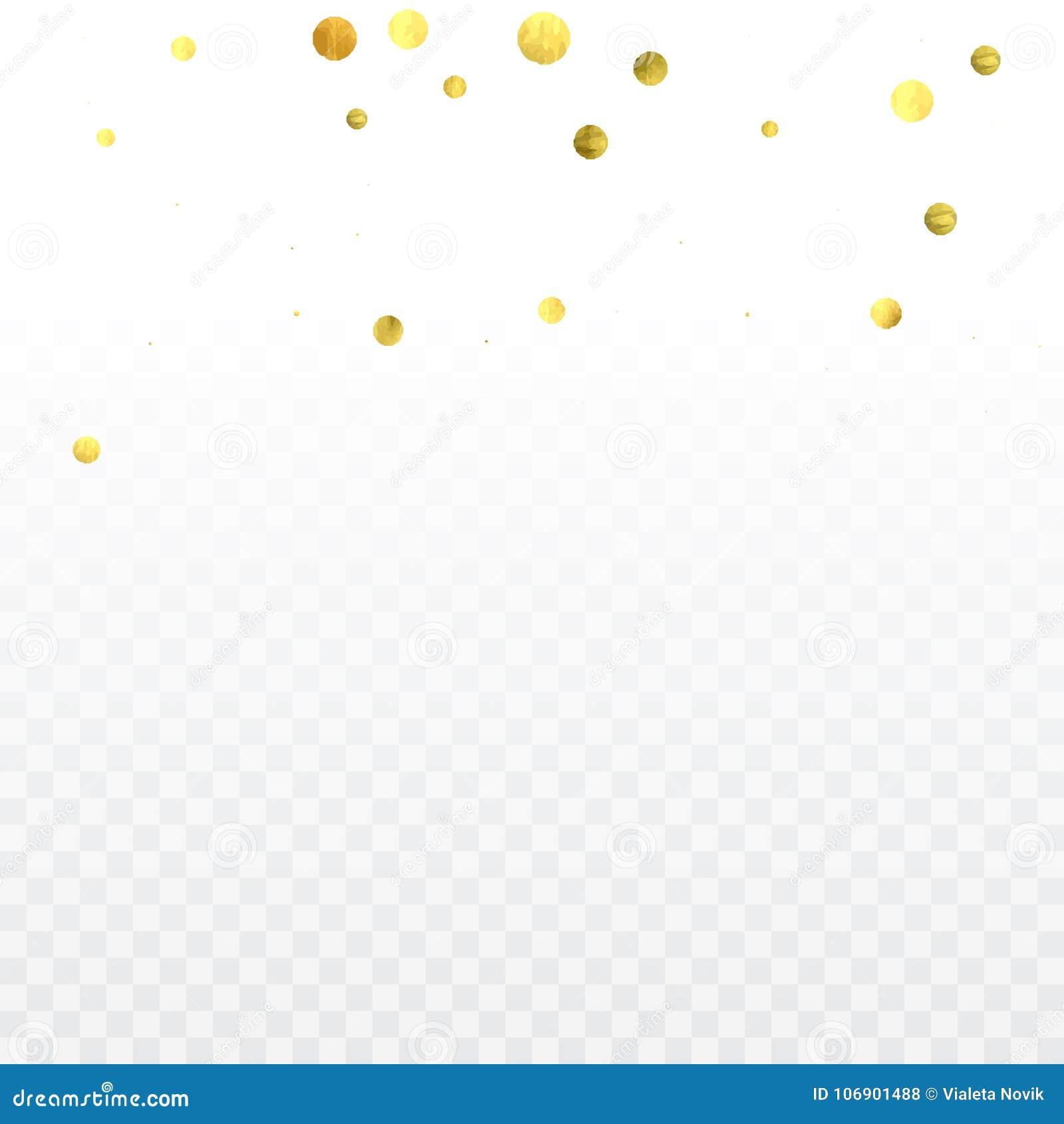 Złocisty confetti świętowanie