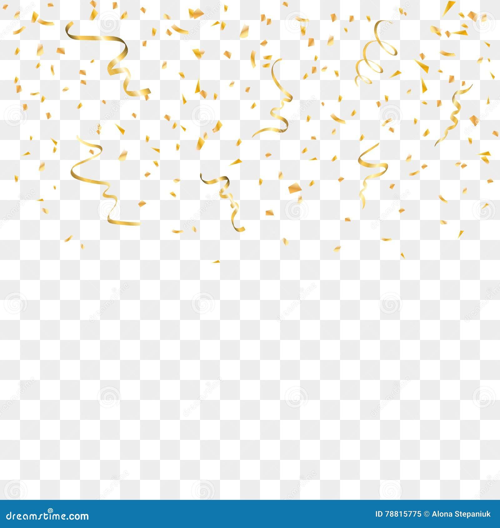 Złocisty confetti tło