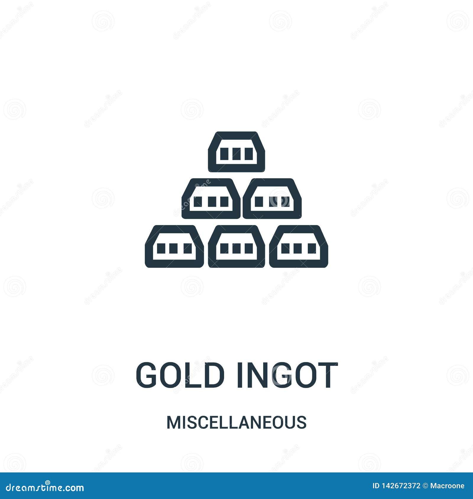 Złocisty ingot ikony wektor od różnej kolekcji Cienka kreskowa złocista ingot konturu ikony wektoru ilustracja Liniowy symbol dla