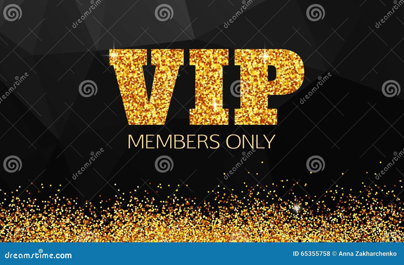 Złocisty VIP tło VIP klub Członkowie tylko VIP