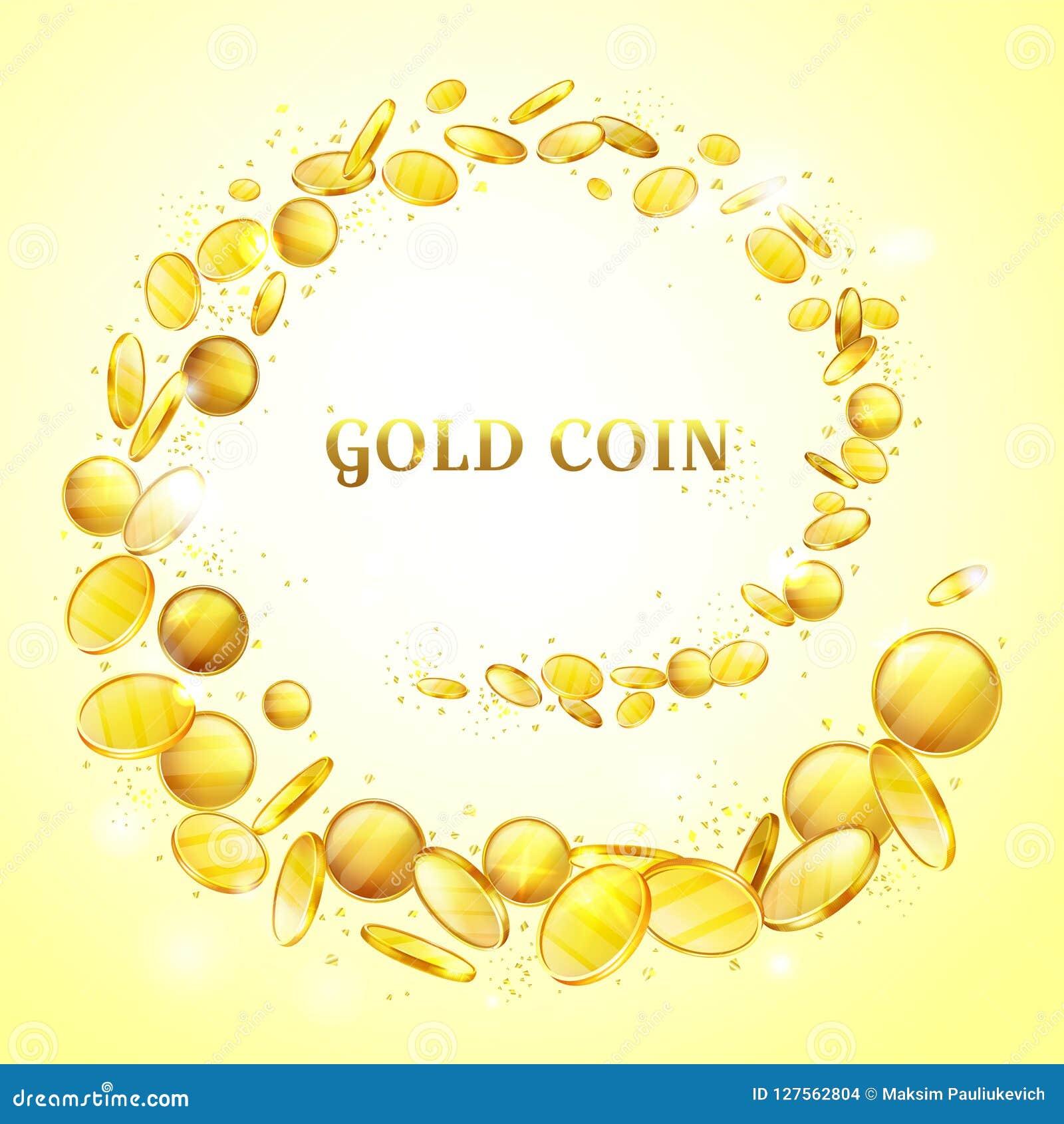Złocistych monet pieniądze splatter wektoru tło
