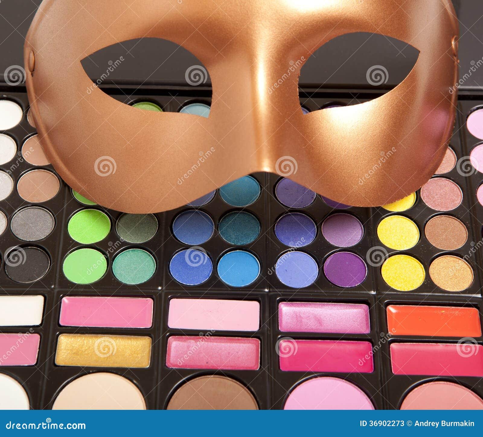 Złota karnawał maska