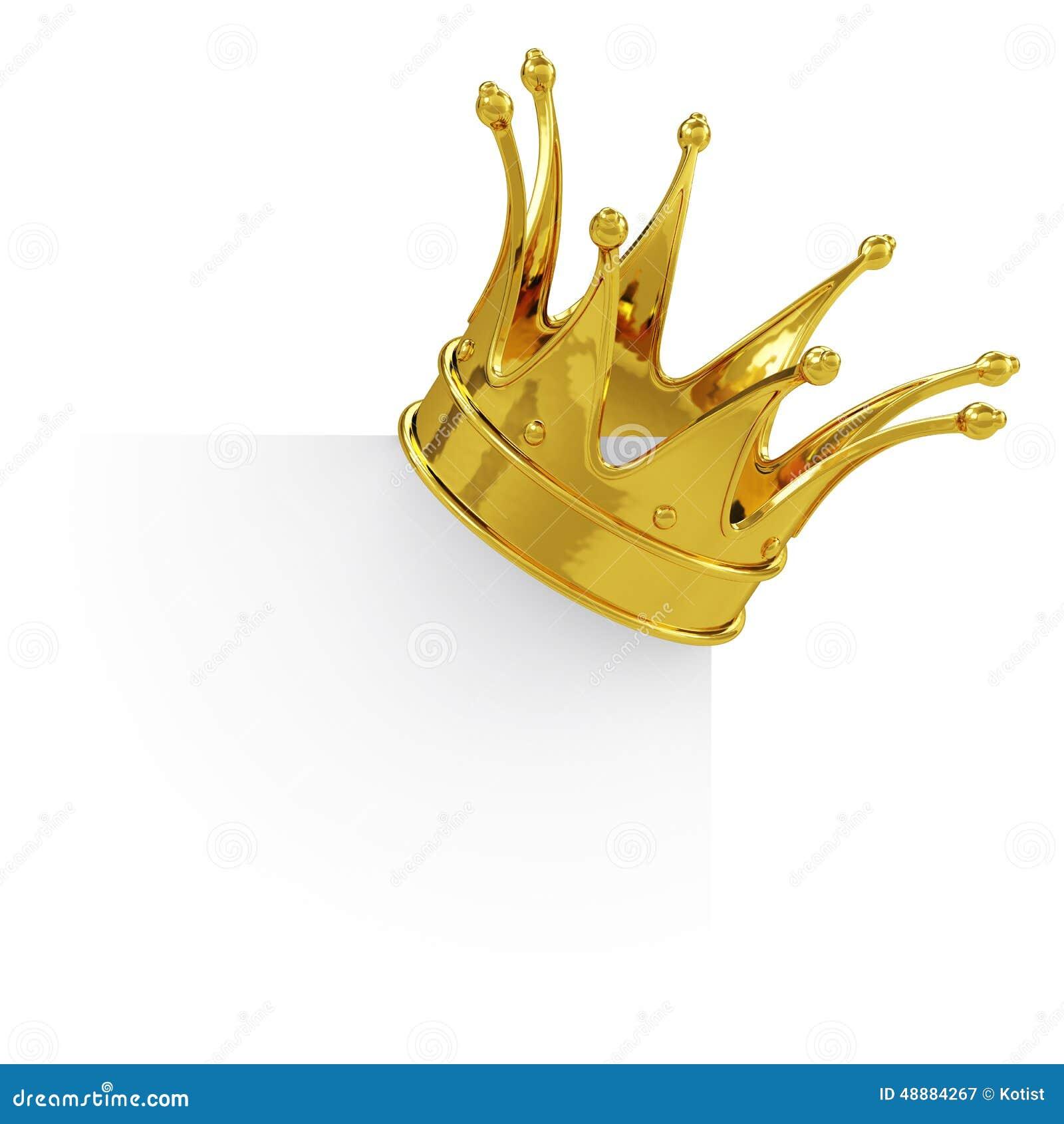 Złota korona na pustej desce