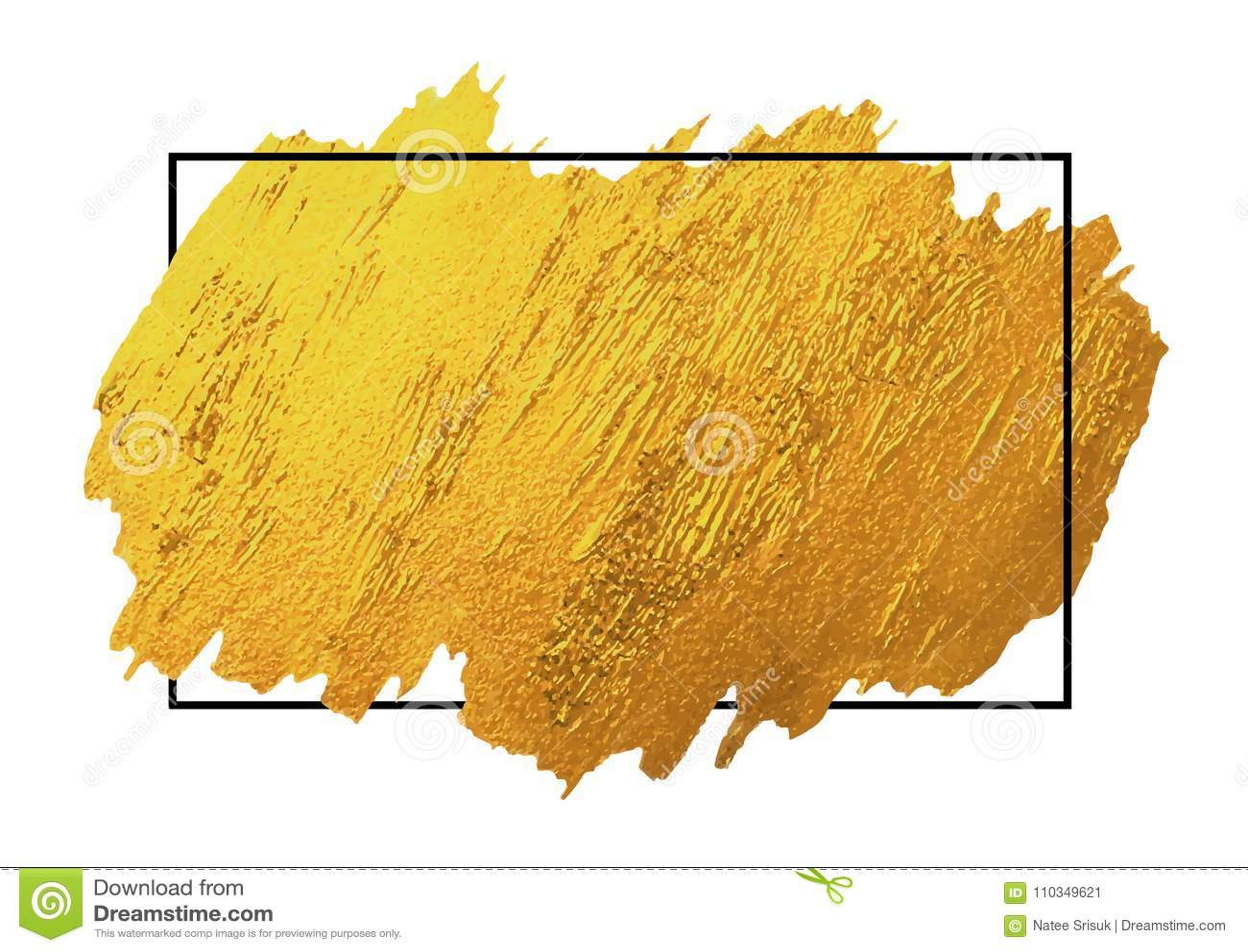 Złota muśnięcie podsyca teksturę na białym tle z linii ramą