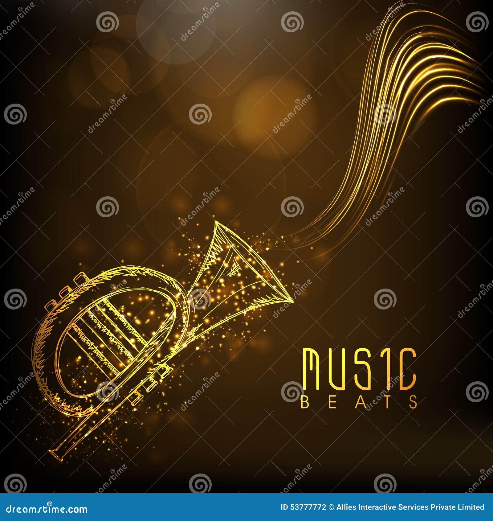 Złota musical trąbka z tekstem