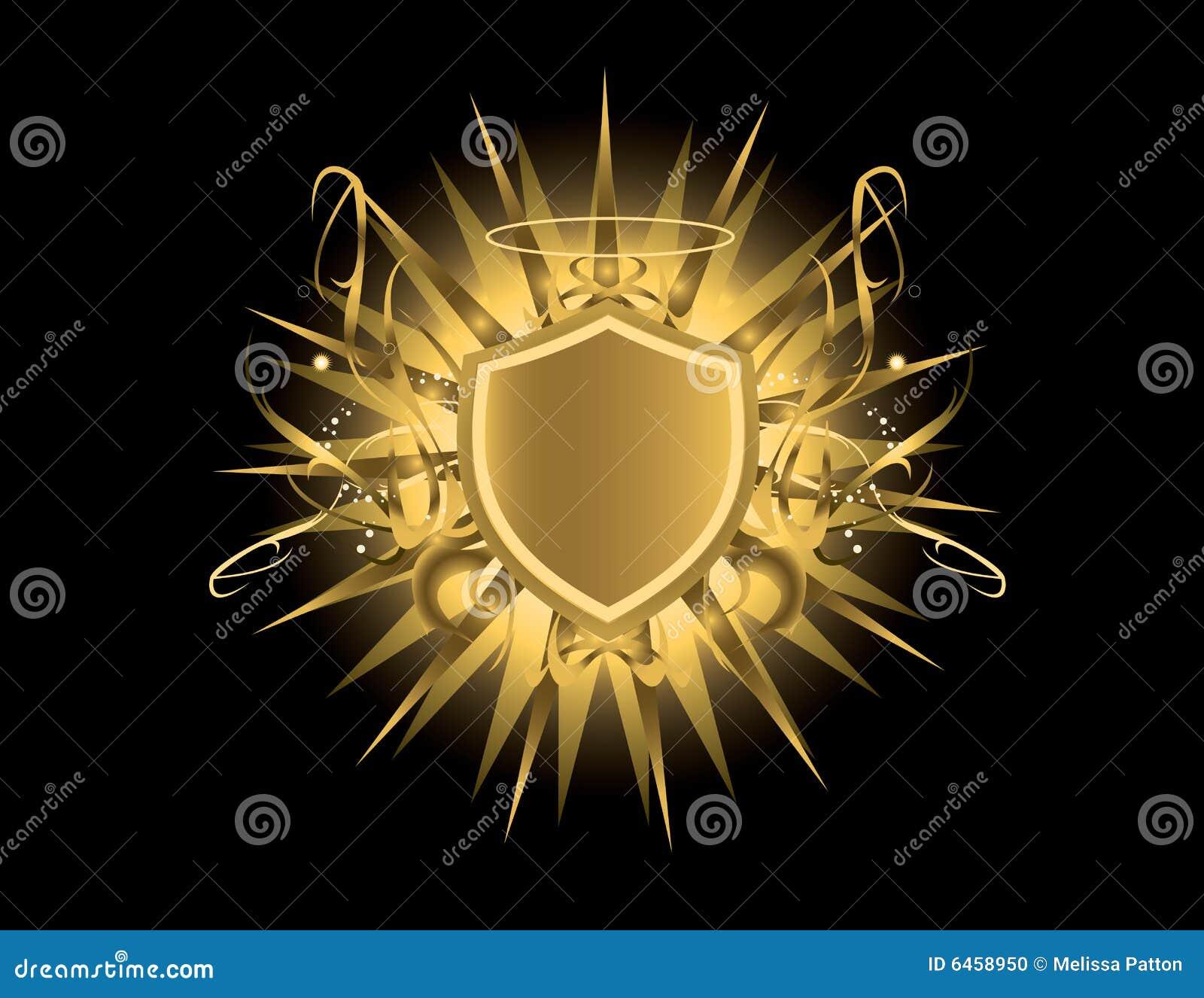 Złota tarcza aureolę