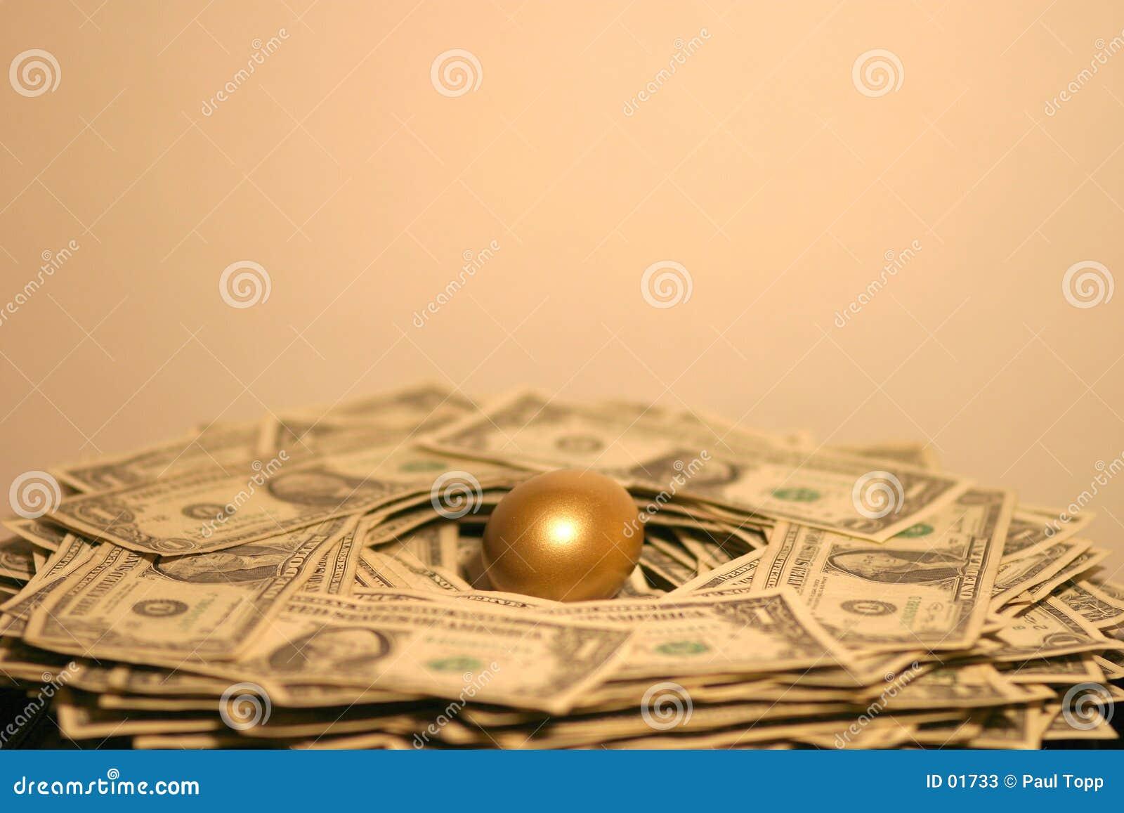 Złote jajko gniazdo