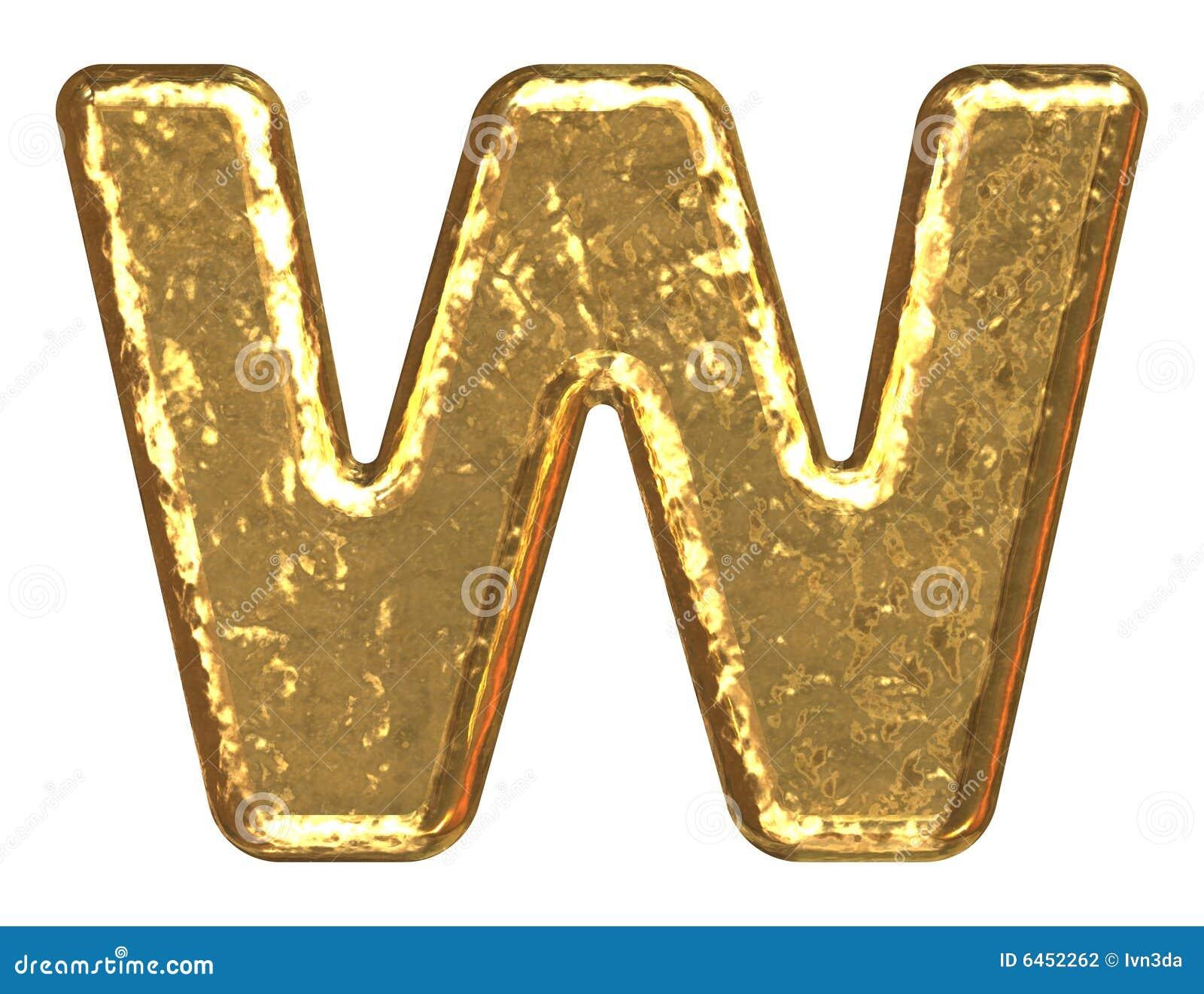 Złote litery w font