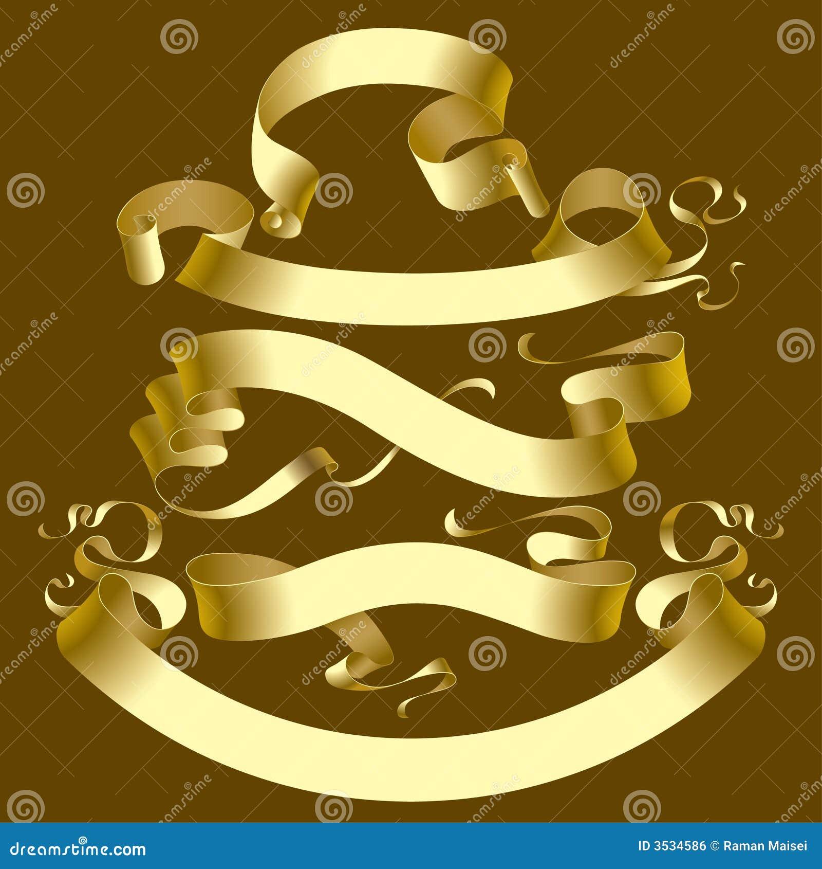 Złote transparenty