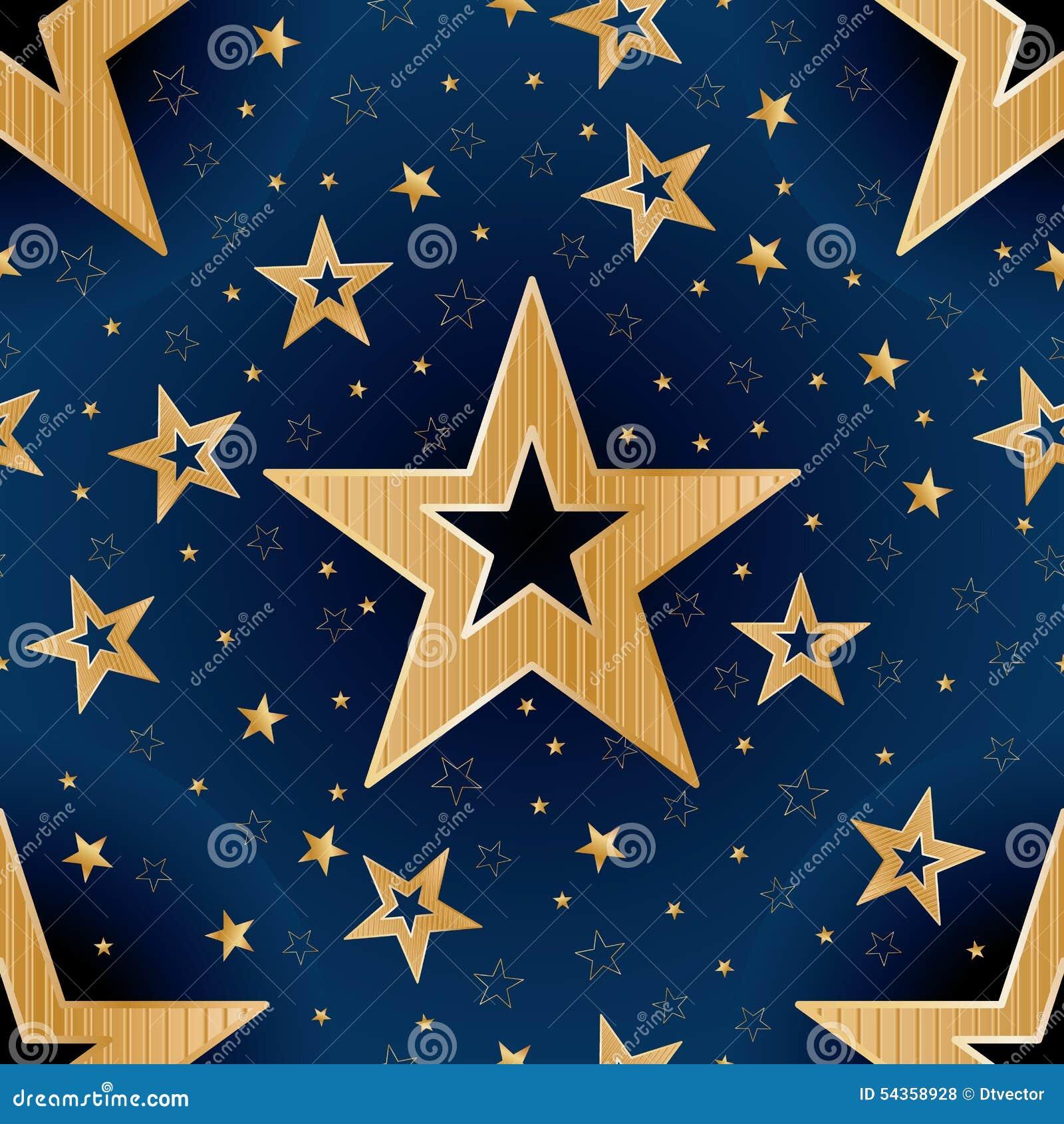 Złoto gwiazdowego dobranoc bezszwowy wzór