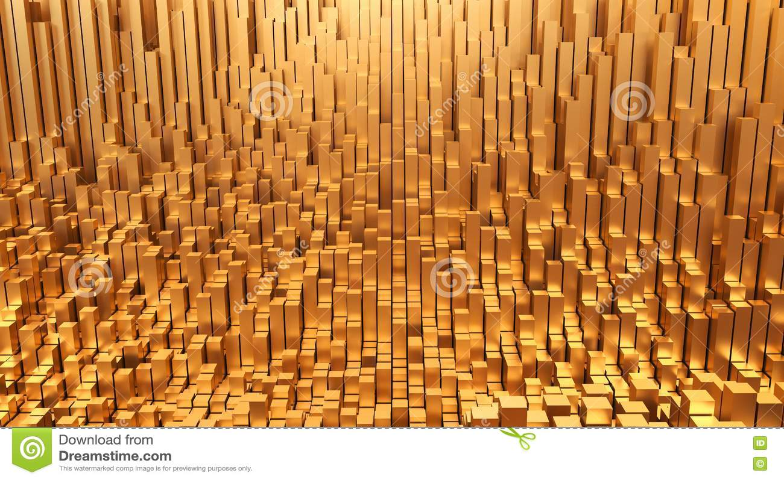 Złoto Pieniądze projekta tła 3d abstrakcjonistyczna ilustracja