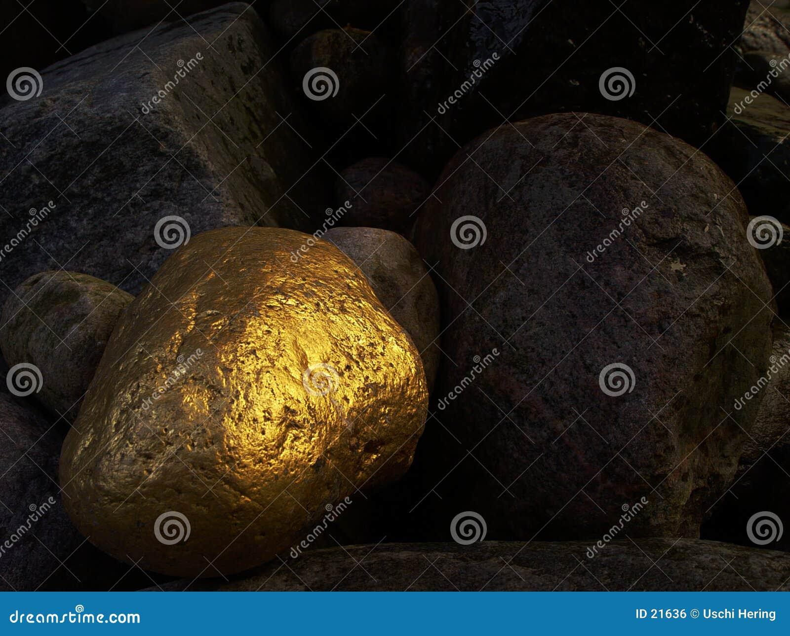 Złoty kamień