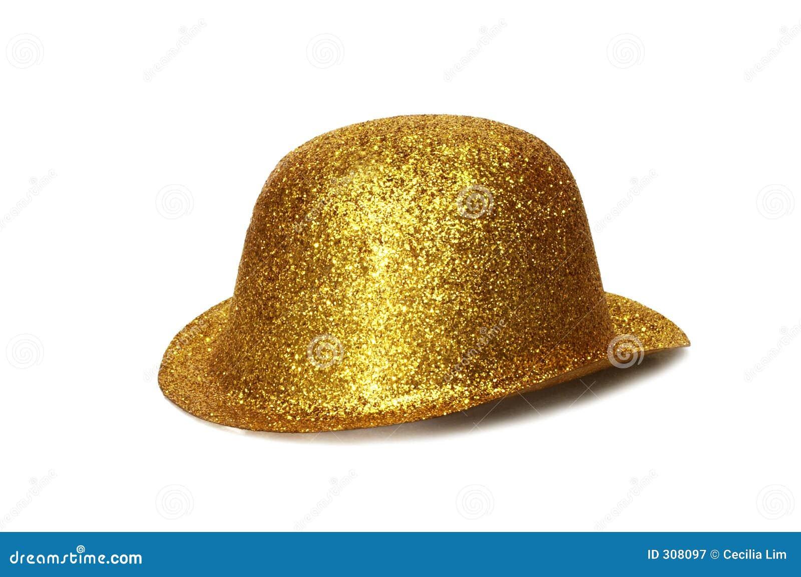 Złoty kapelusz na przyjęcie