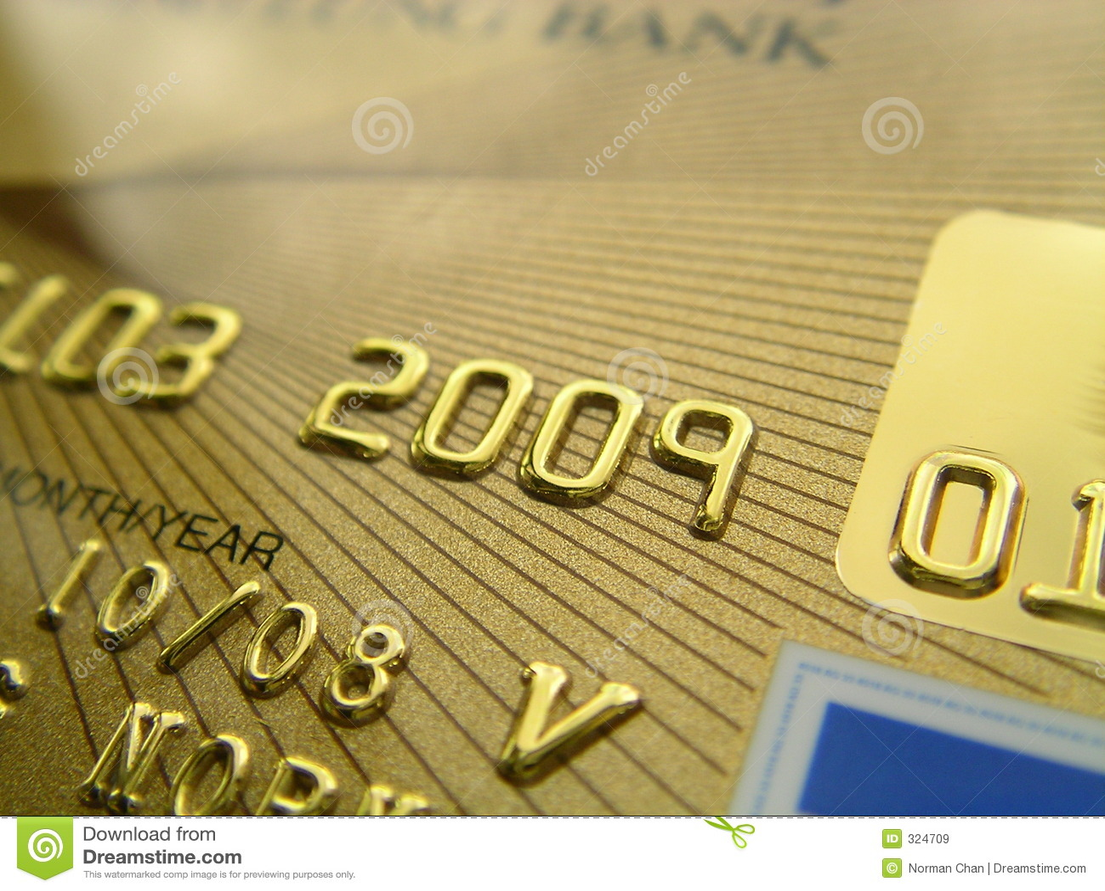 Złoty kredytowe karty