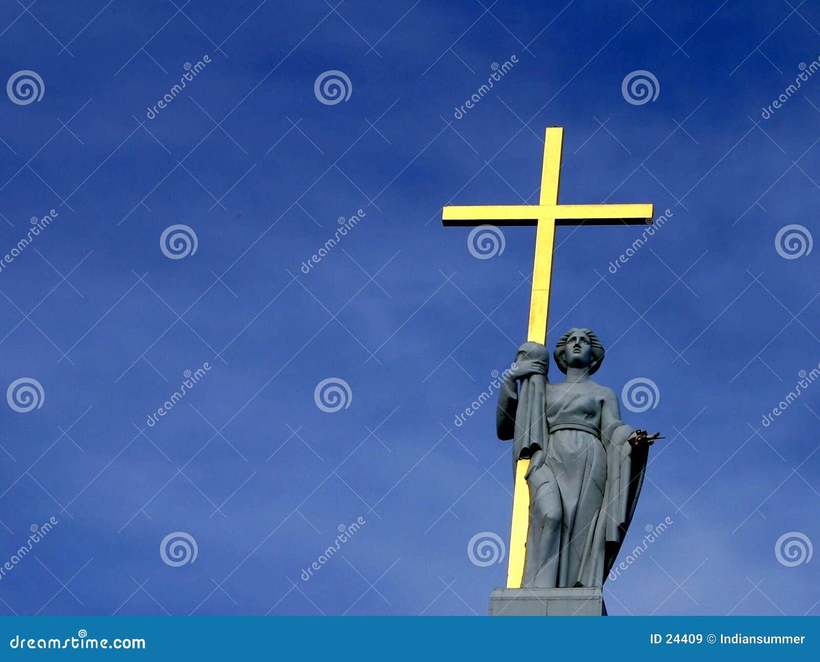 Złoty krzyż