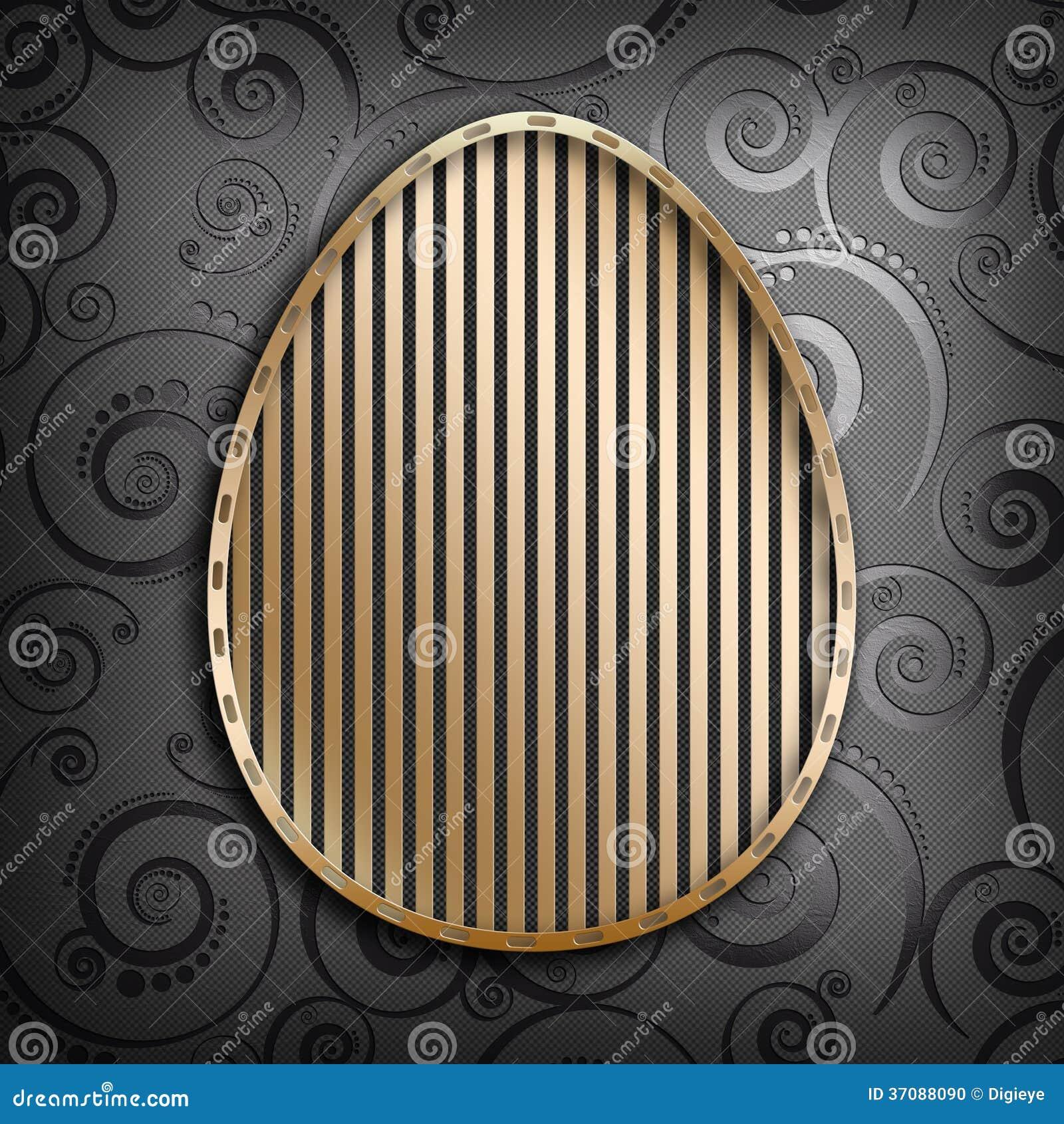 Download Złoty Kształt Jajko Na Ciemnym Tle Ilustracji - Ilustracja złożonej z wiosna, szablon: 37088090