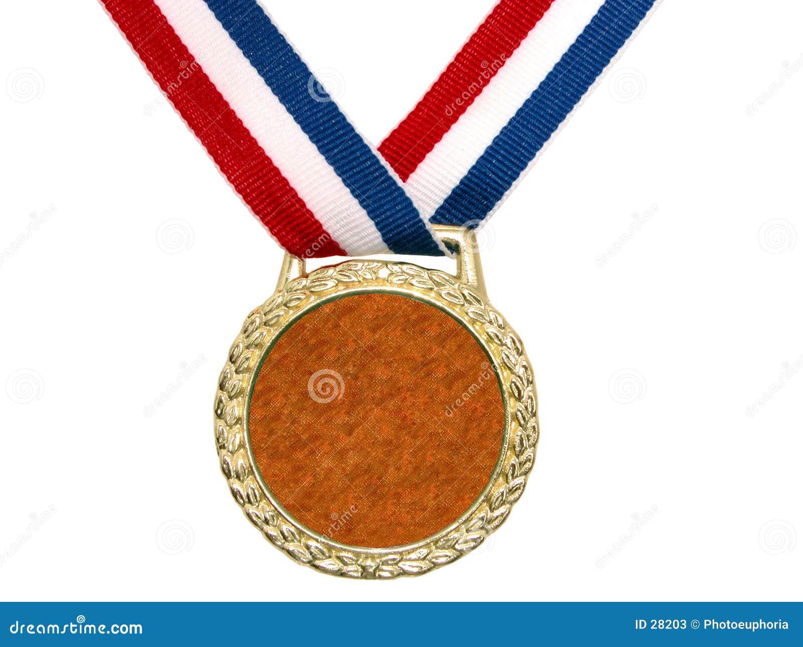 Złoty medal 2 błyszczący