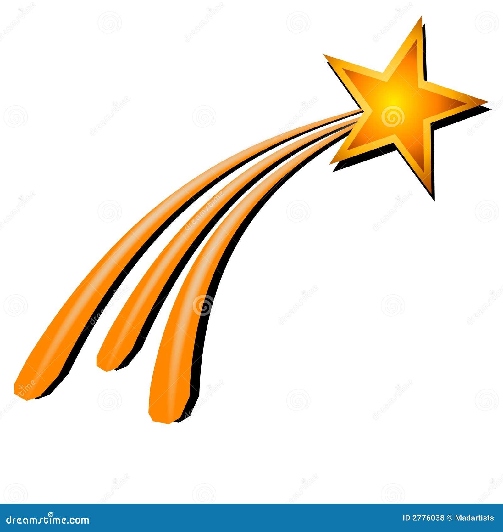 Złoty mknącej żółte gwiazdy