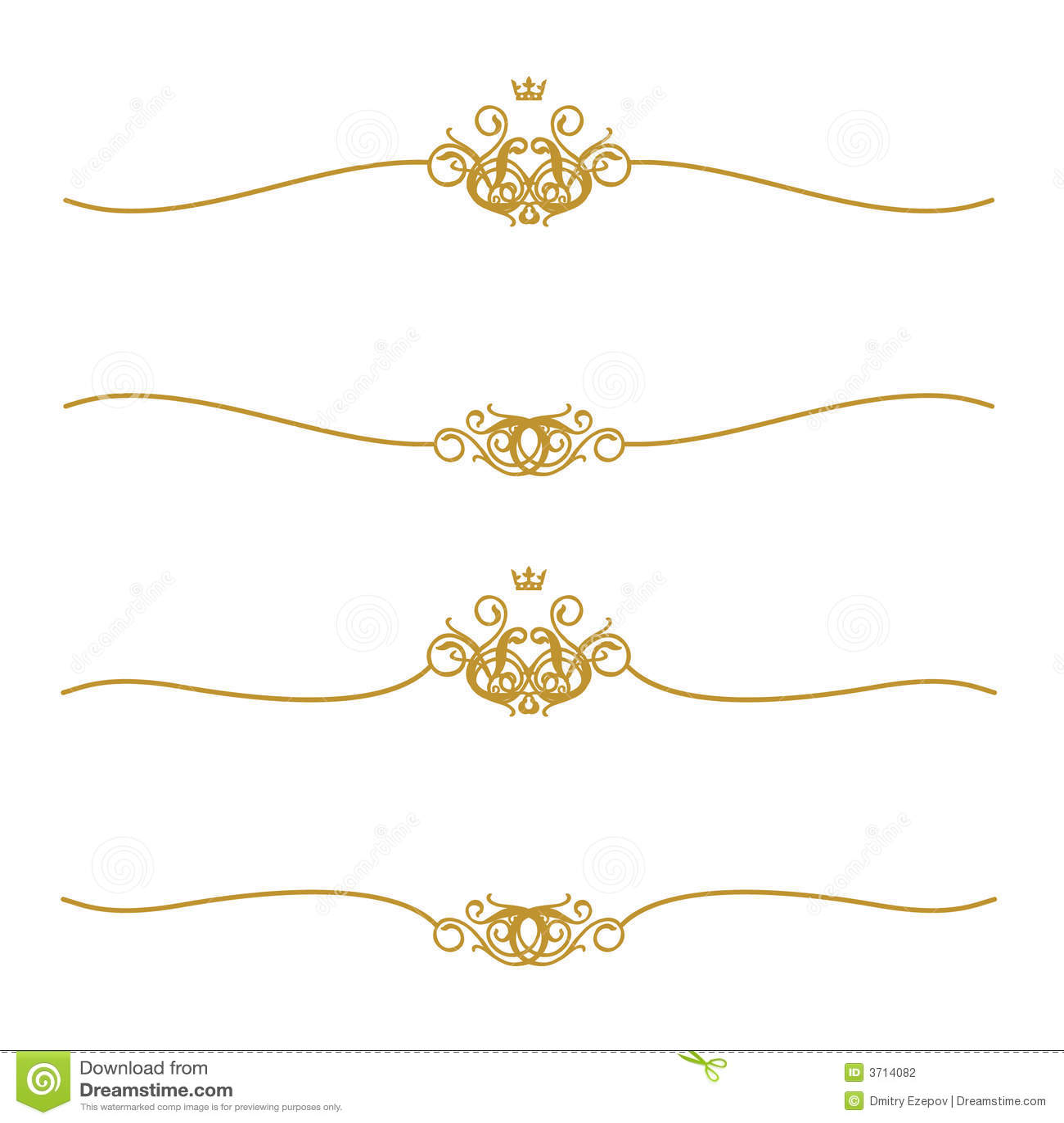 Złoty ramowy korony