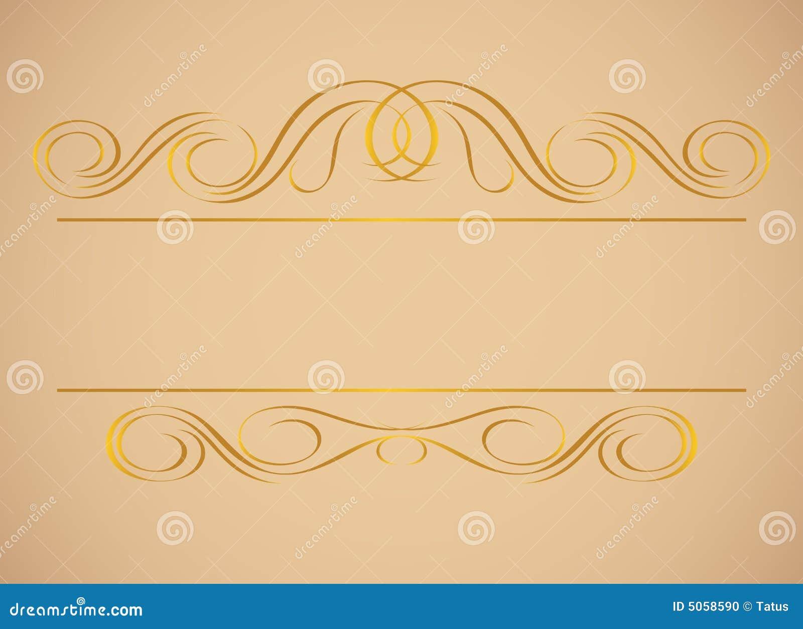 Złoty ramowy rocznik