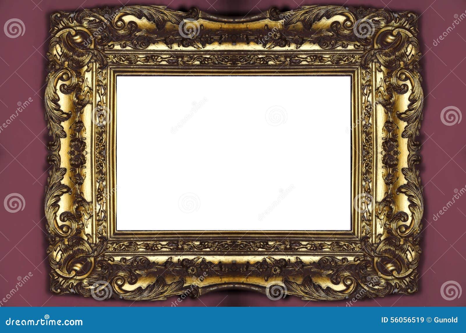 Złoty ramowy zdjęcie