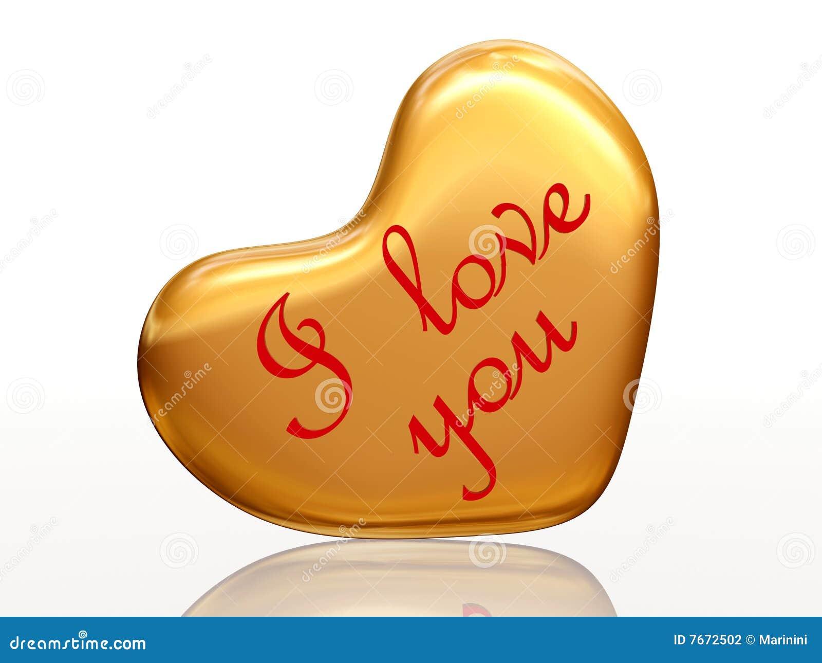 Złoty serce ja kocham ty