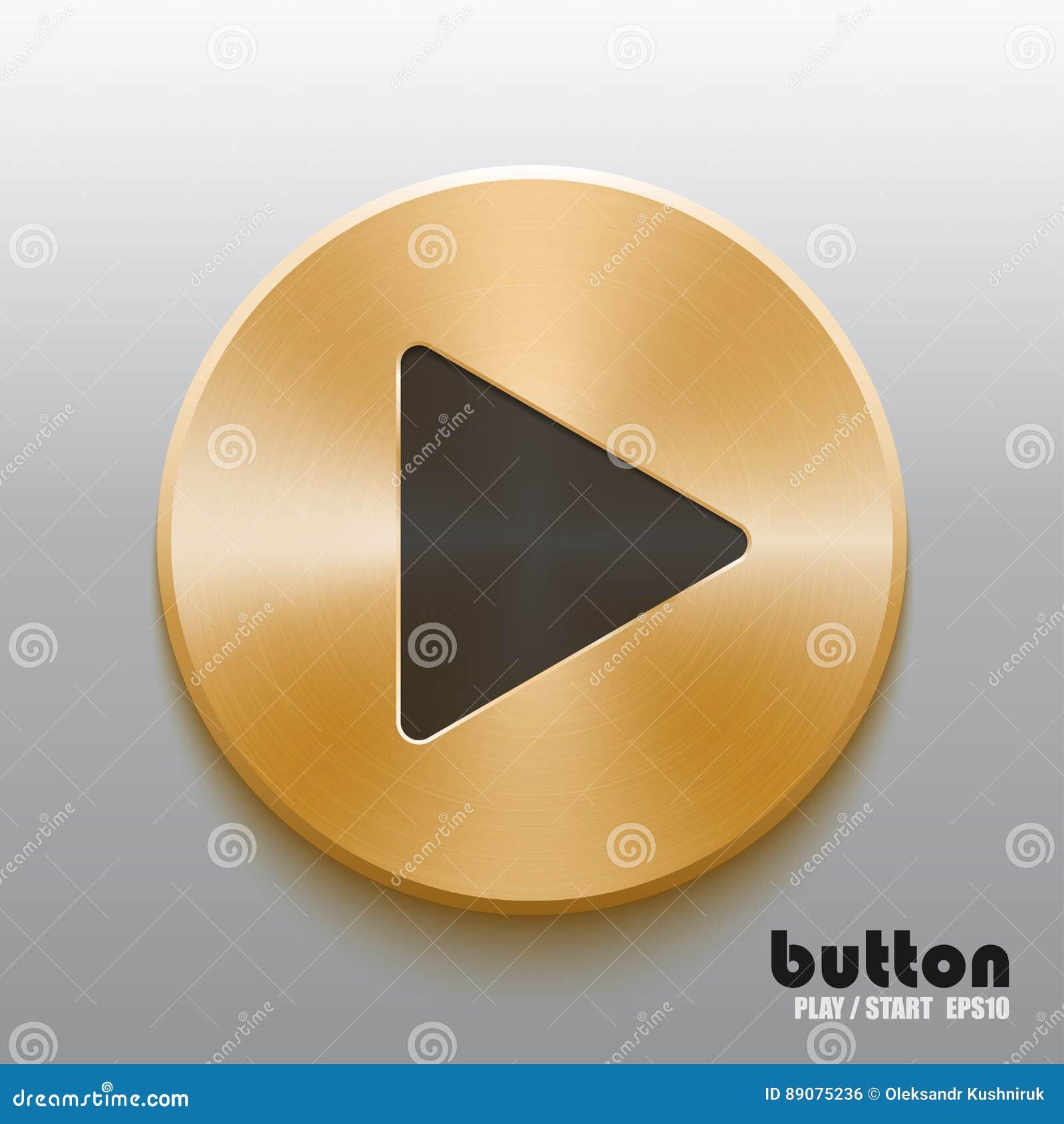 Złoty sztuka guzik z czarnym symbolem