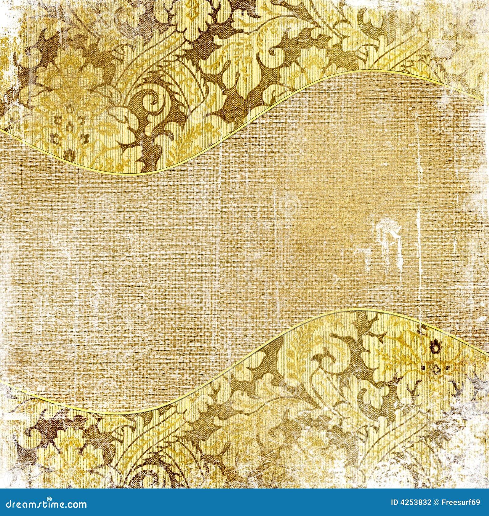 Złoty tła zniszczony