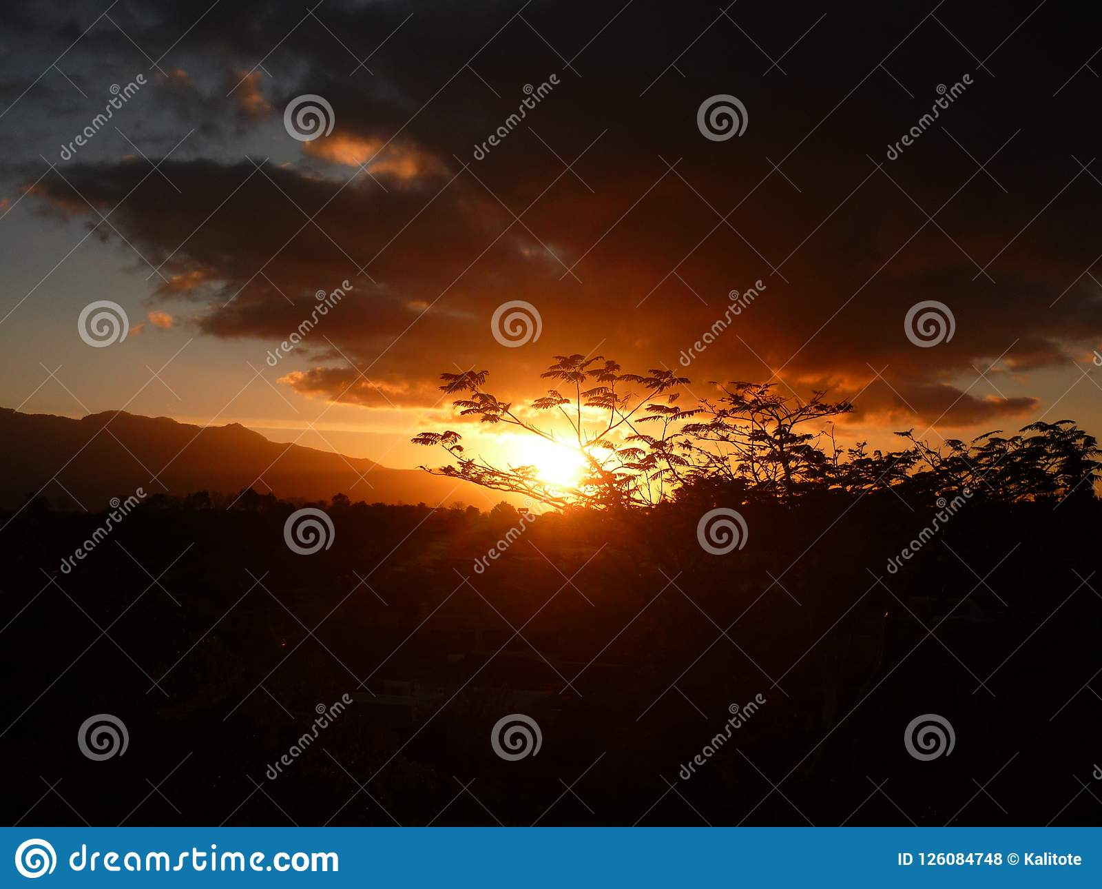 Złoty zmrok w górach