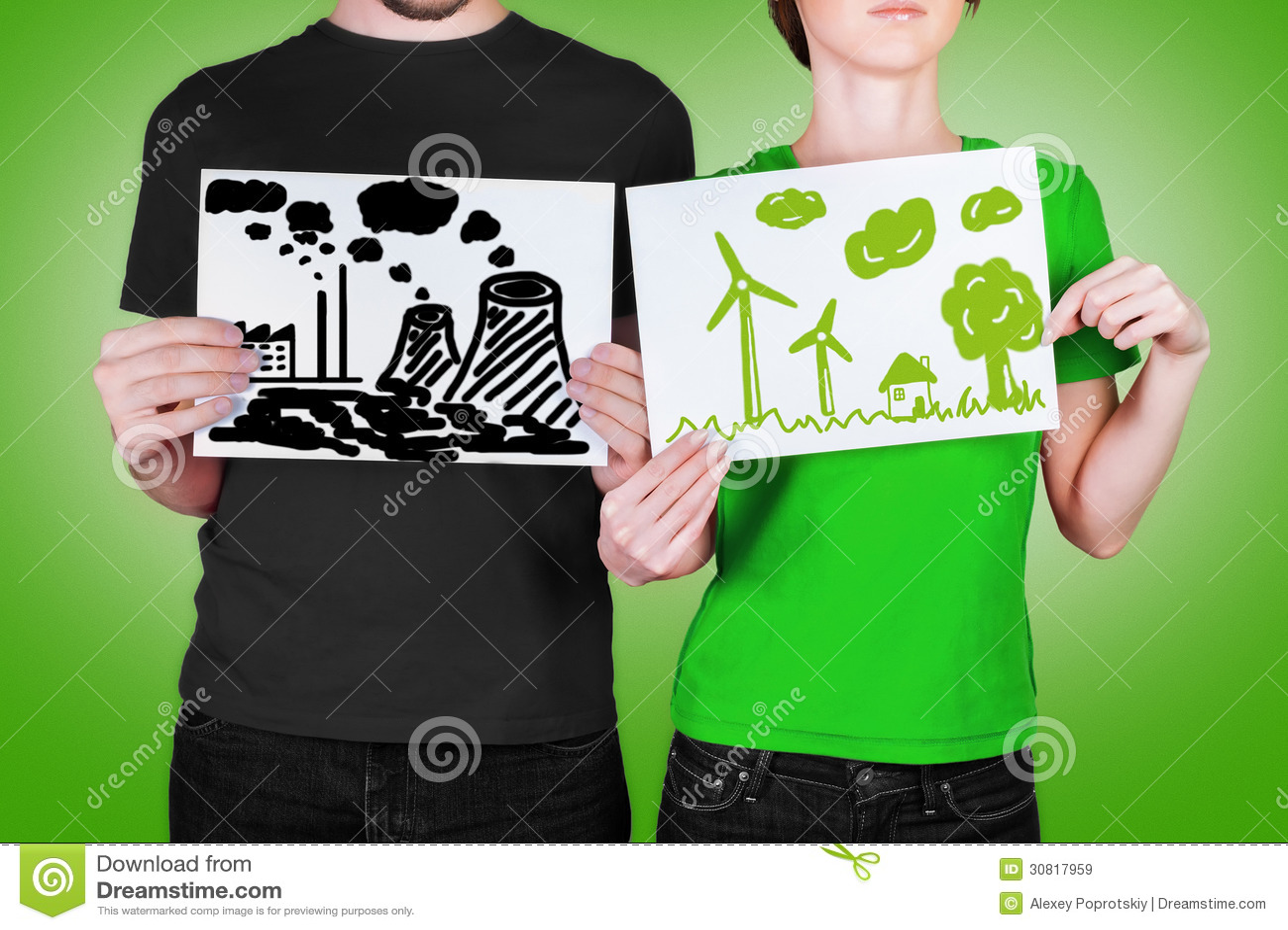Zły i dobry pojęcie ekologia