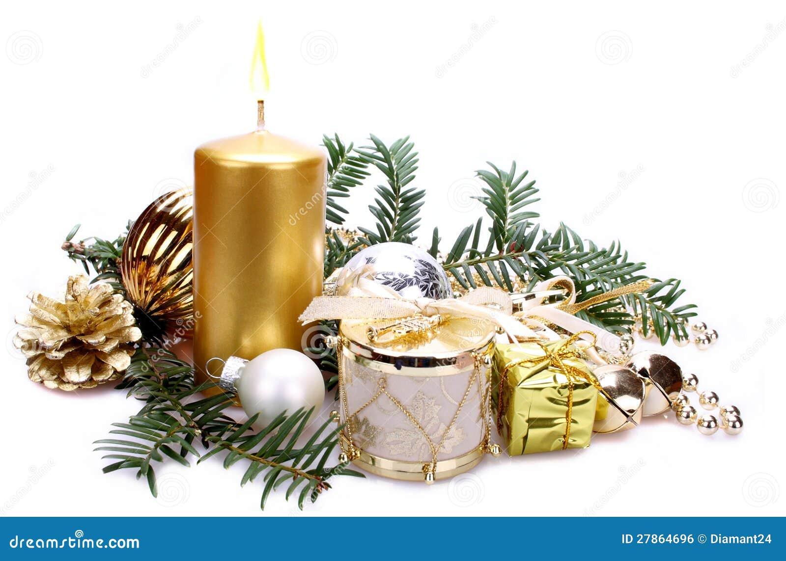 Z świeczką bożenarodzeniowa dekoracja