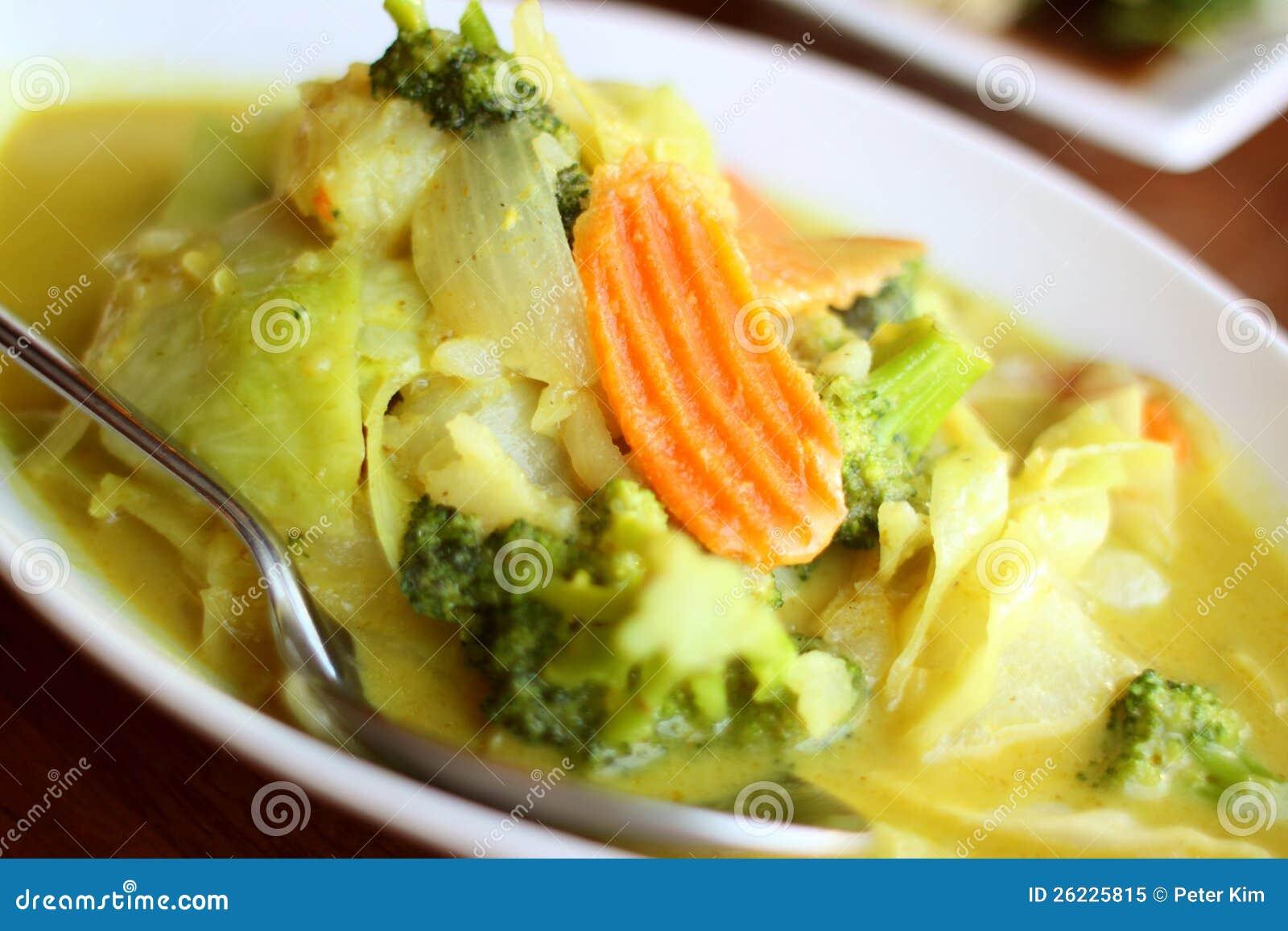 Z żółtym currym wyśmienicie jarski naczynie