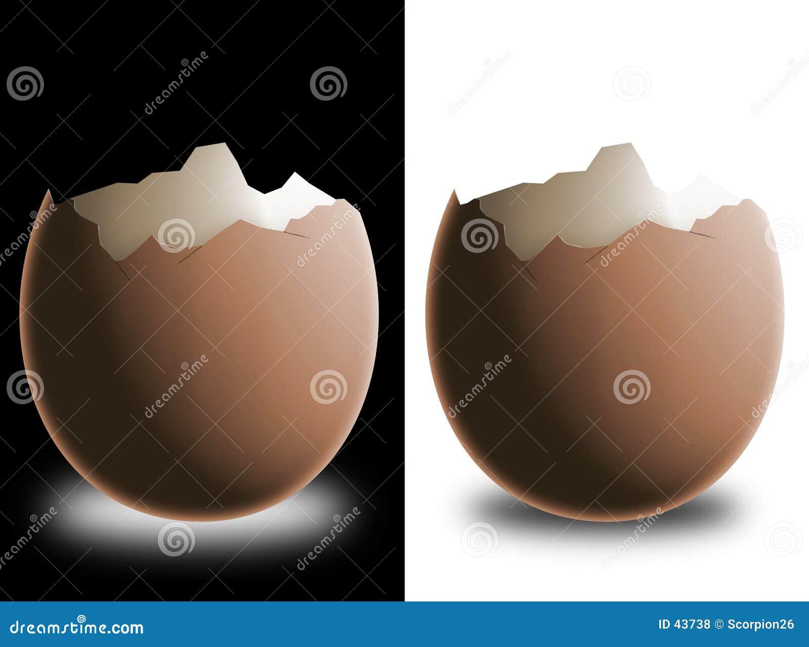 Download Złamany eggshell ilustracji. Ilustracja złożonej z jedzenie - 43738
