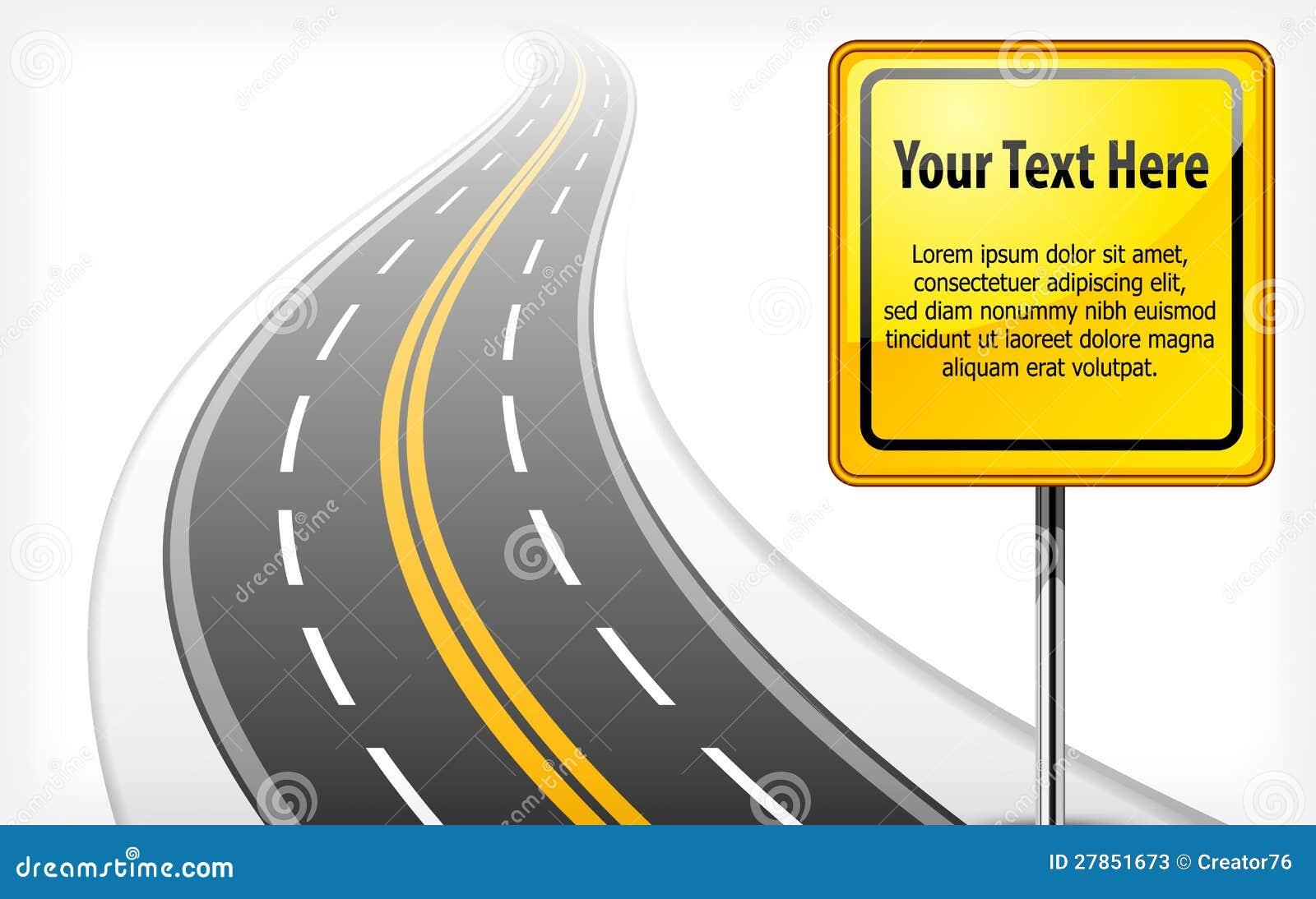 Z autostradą droga znak