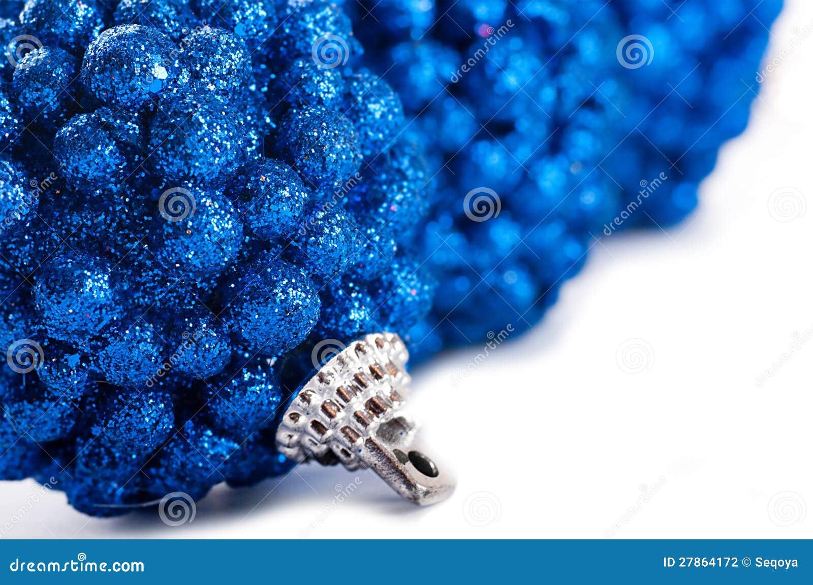 Z błękitny piłkami nowy rok karta