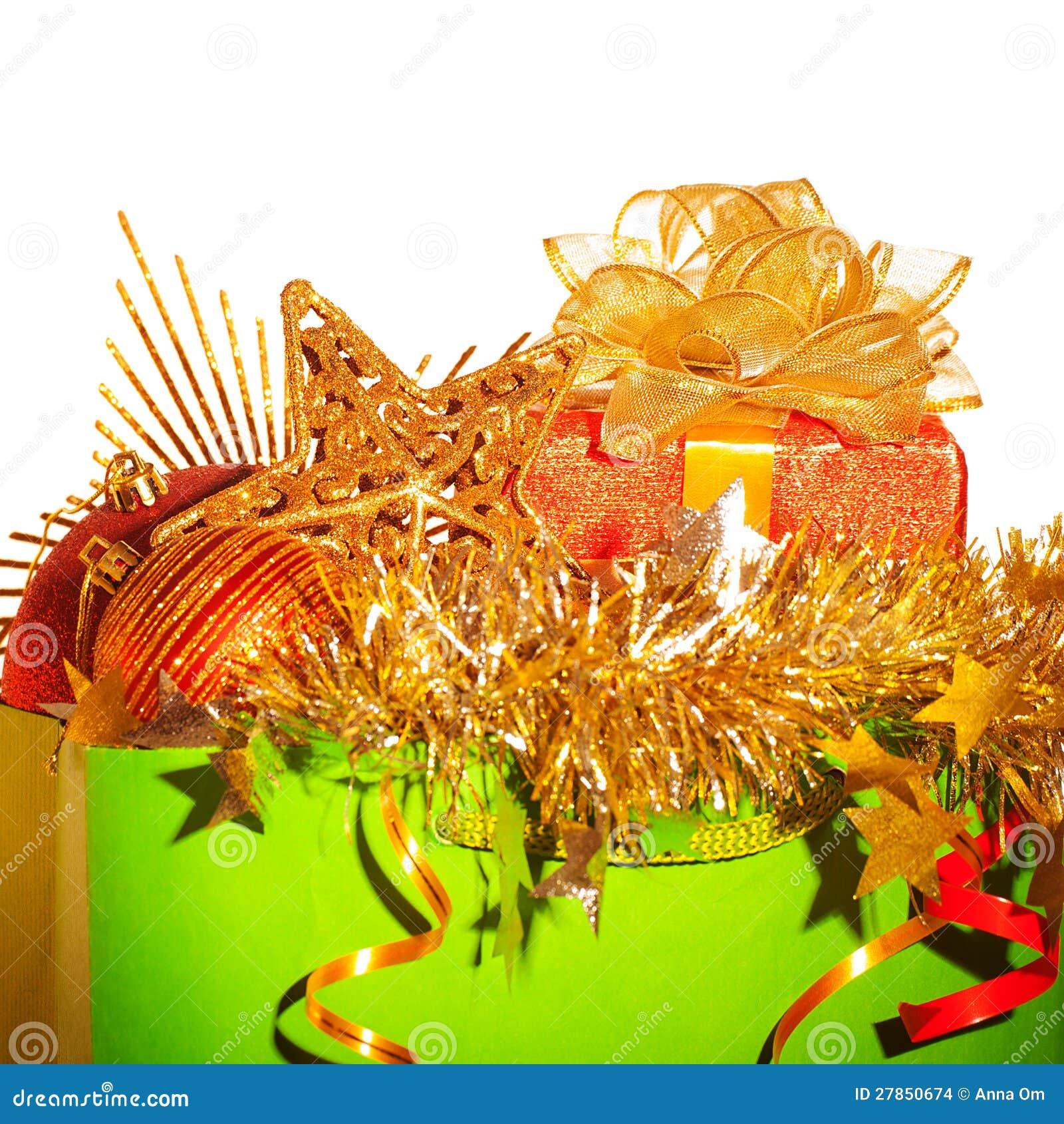 Z Boże Narodzenie materiałem papierowa torba