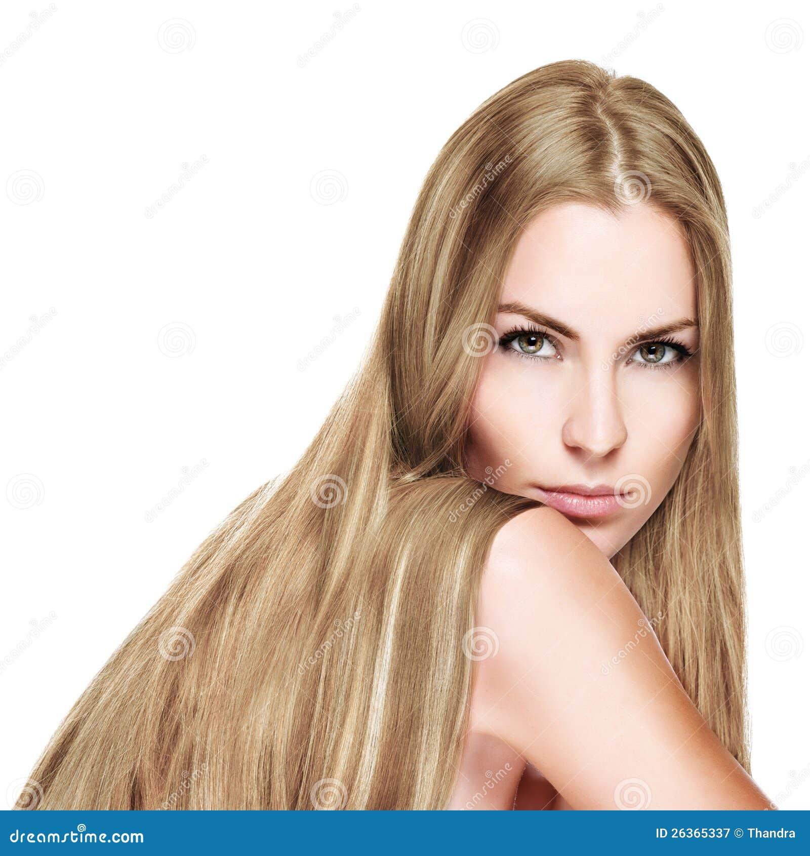 Z Długim blondynem piękna Kobieta