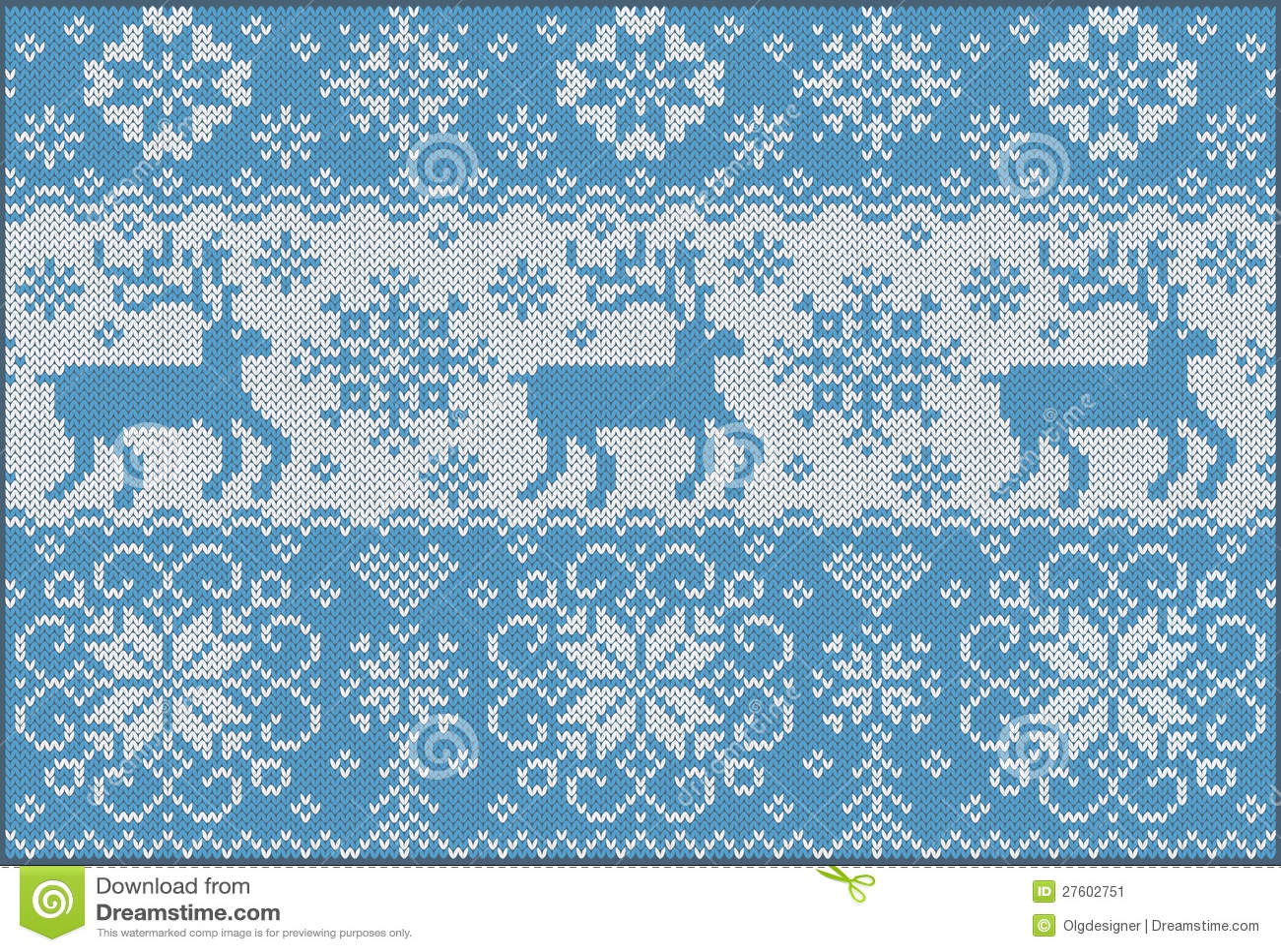 Z deers trykotowy ornament